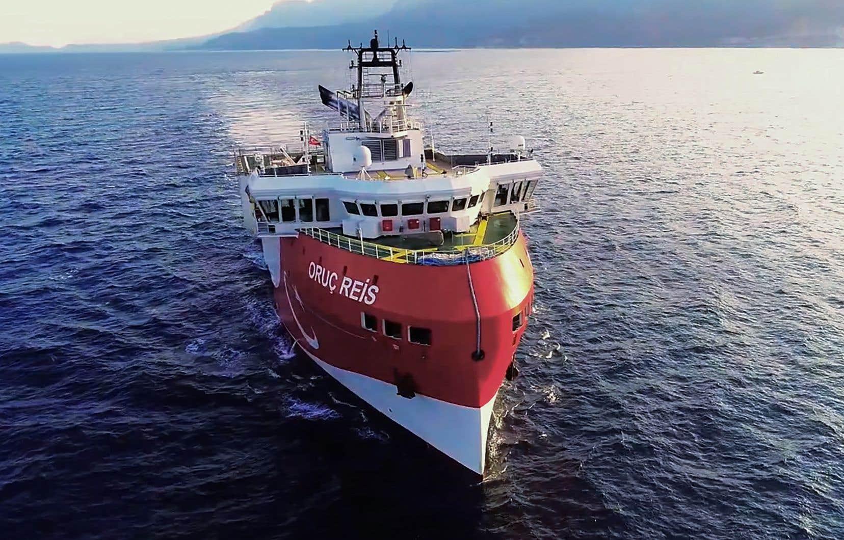 La Turquie a prorogé samedi jusqu'au 29 novembre la mission de l'<em>Oruc Reis</em>, dans une zone maritime qu'elle se dispute avec la Grèce, la découverte de vastes gisements gaziers y aiguisant les appétits.