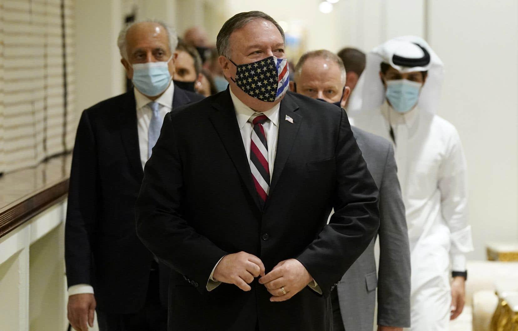 Le secrétaire d'État américain, Mike Pompeo, samedi à Doha