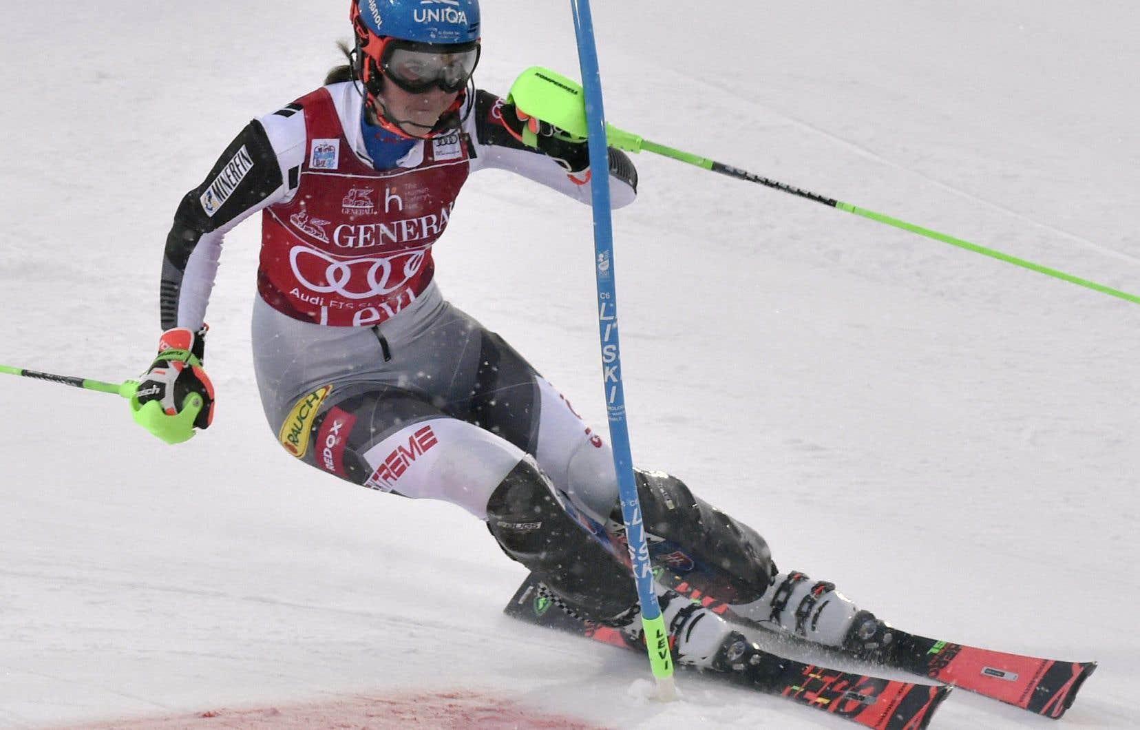 La Slovaque, âgée de 25ans, a remporté son deuxième slalom en deux jours en Finlande.