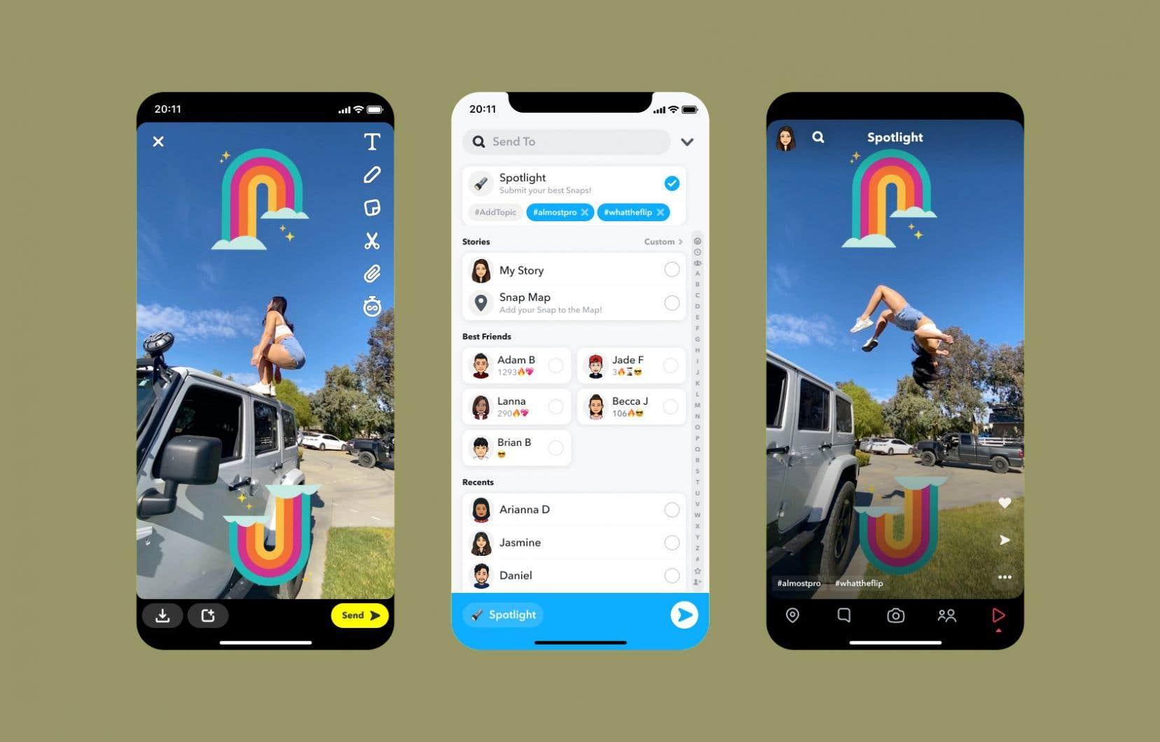 Le 23 novembre dernier,Snapchat a dévoilé sa dernière fonctionnalité appelée Spotlight.
