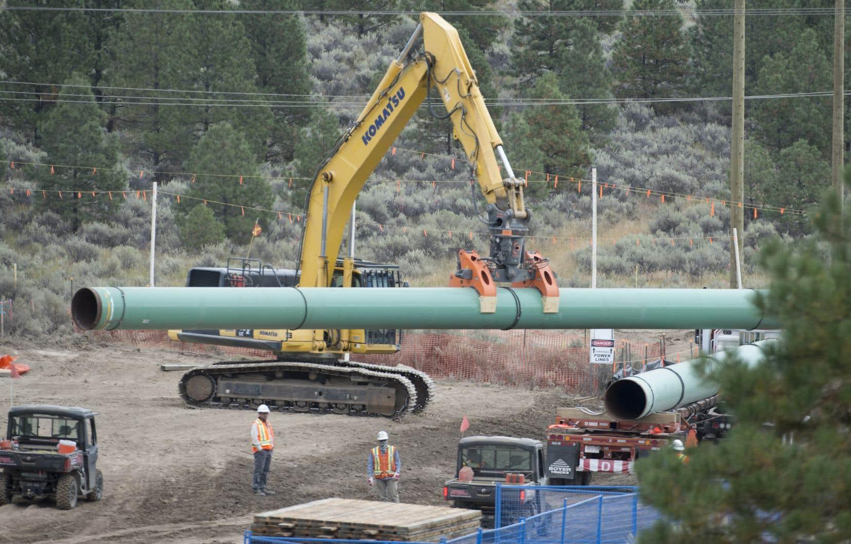 La construction du pipeline Trans Mountain a redémarré en 2019, après une pause en 2018 en raison de la décision du tribunal sur la première approbation fédérale.