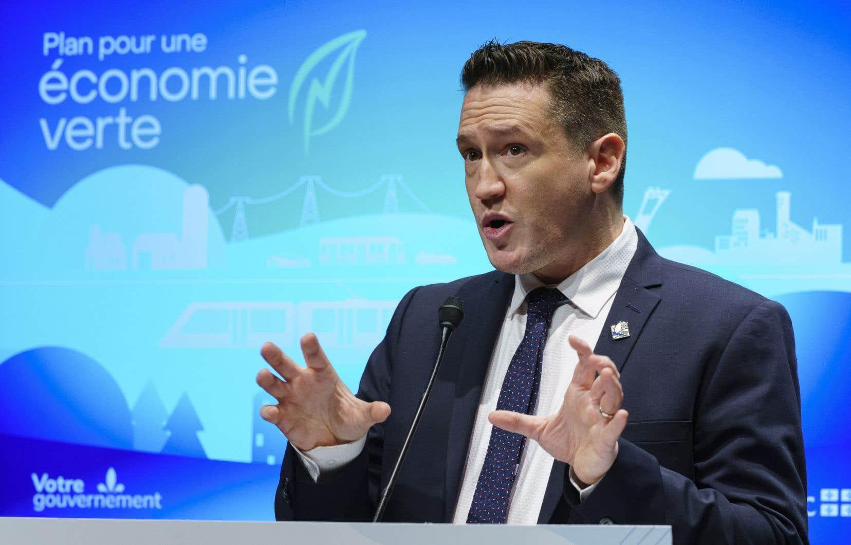 Le Fonds vert relève du ministre de l'Environnement, Benoit Charette, même si d'autres ministères sont aussi impliqués.