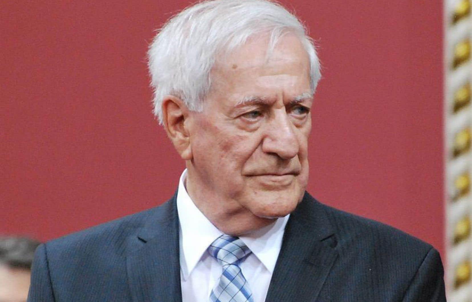Marc-André Bédard, que l'on voit ici en octobre 1983, a été ministre de la Justice du gouvernement de René Lévesque ainsi que vice-premier ministre.