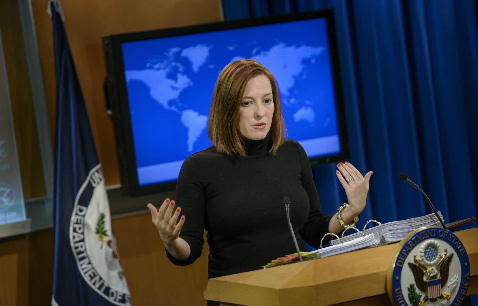 Jen Psaki avait occupé le poste de directrice de la communication de la Maison-Blanche sous l'administration Obama-Biden.