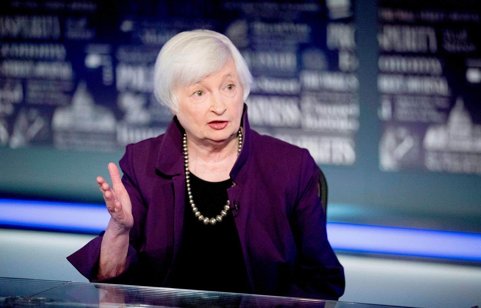 Janet Yellen, en août 2019 après son passage à la tête de la puissante Réserve fédérale (Fed) entre 2014 et 2018