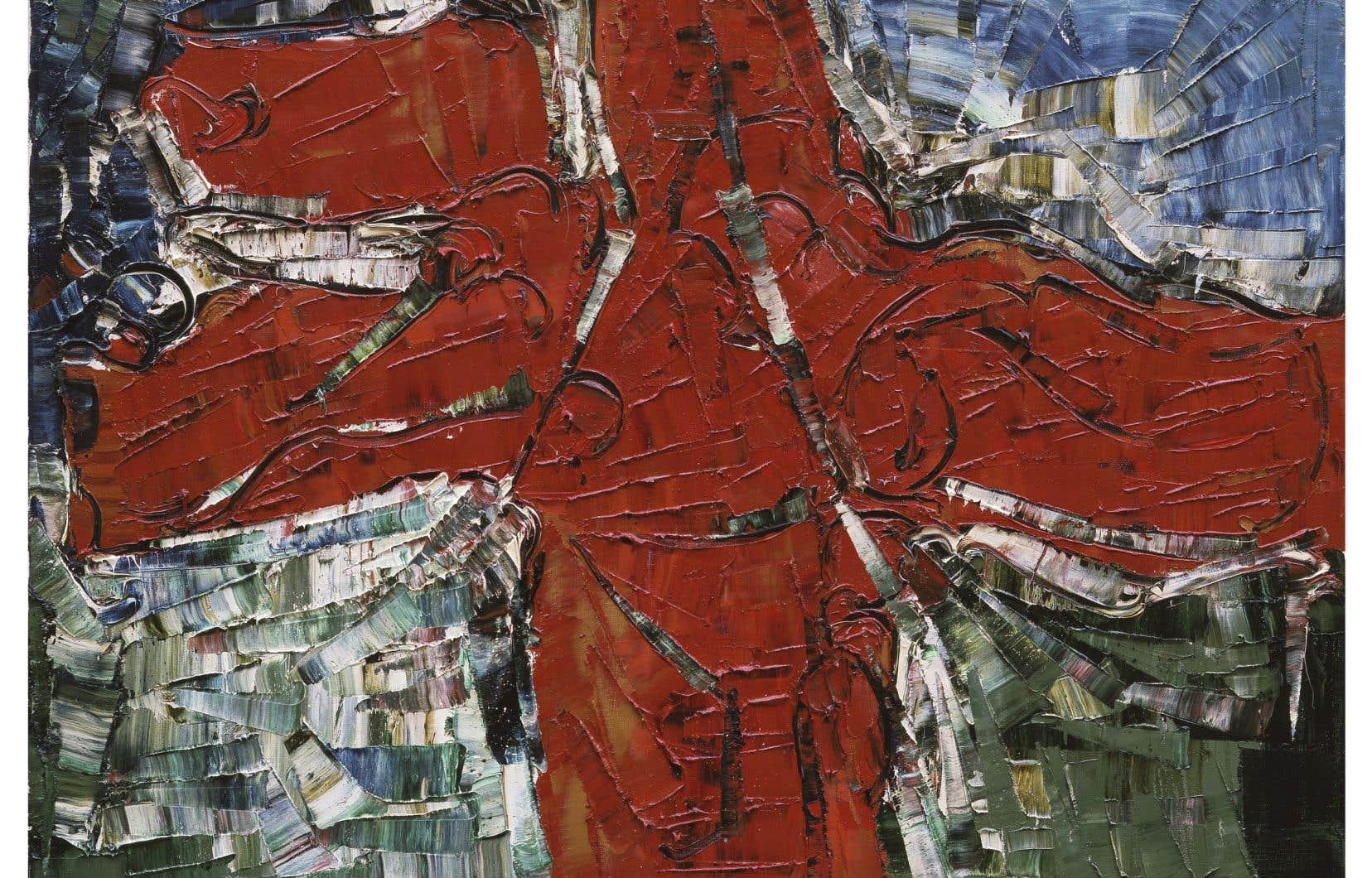 Jean Paul Riopelle (1923-2002), «Inuit», 1977, huile sur toile, 82 x 101cm. Collection de Charles Dutoit, Montréal. ©Succession Jean Paul Riopelle / SOCAN (2020).