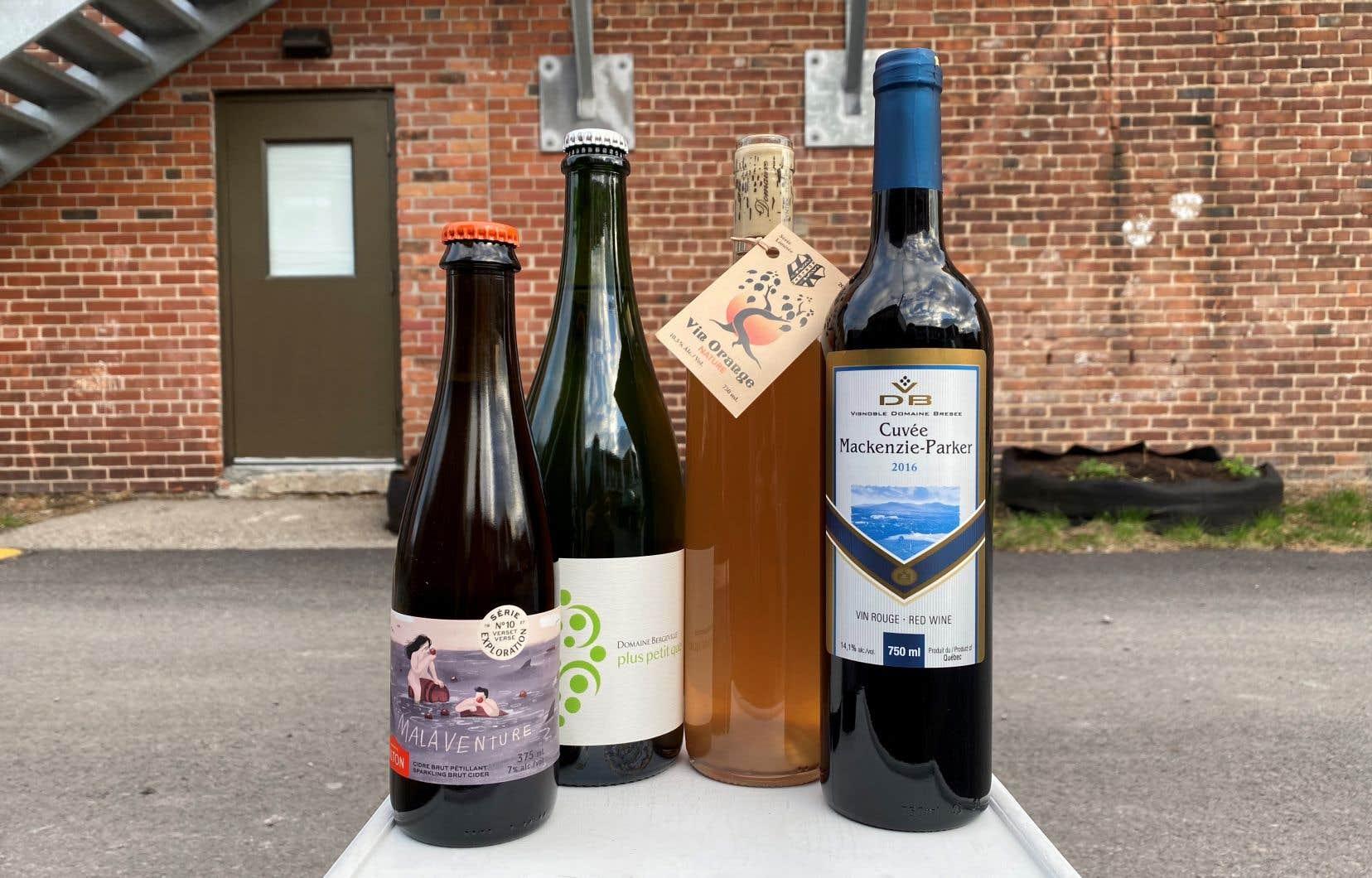 Au menu du Sommelier Nordiq pour le temps des Fêtes: une bulle bio et naturelle, un vin orange fait nature, un rouge classique avec pas mal de corps et un cidre audacieux!