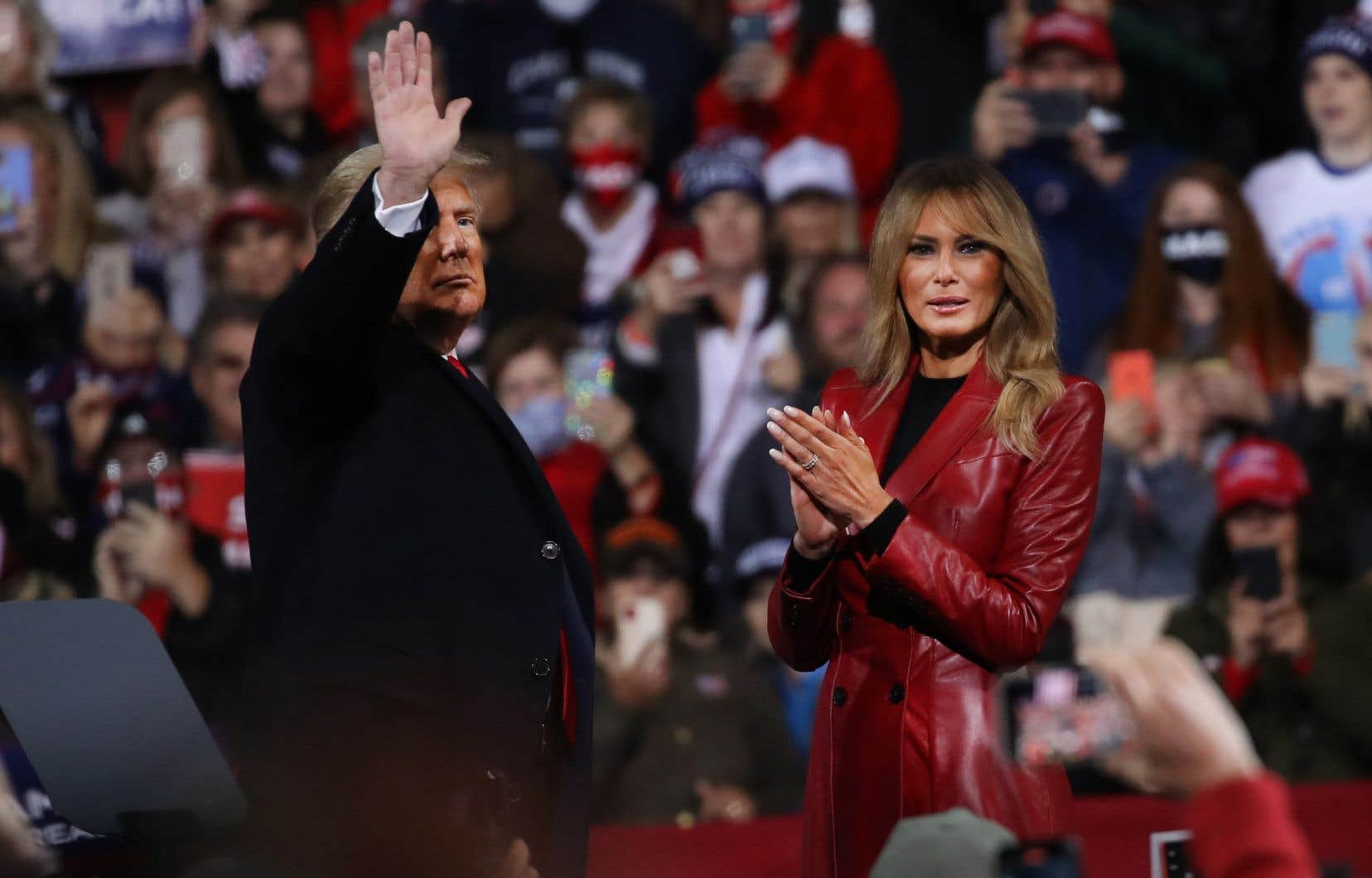 Le président Donald Trump et la première dame Mélania assistent à un rassemblement de soutien aux sénateurs David Perdue et Kelly Loeffler, samedi dernier.