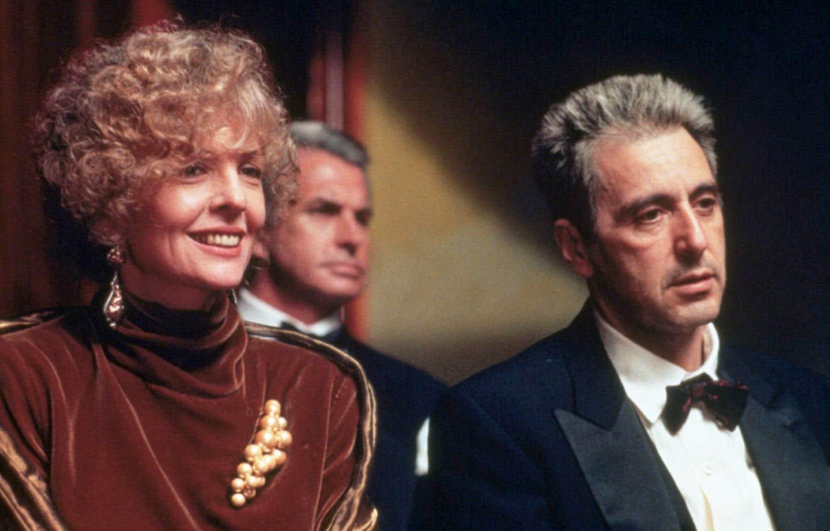 Diane Keaton, Georges Hamilton et Al Pacino dans <em>The Godfather, Coda: the Death of Michael Corleone</em>