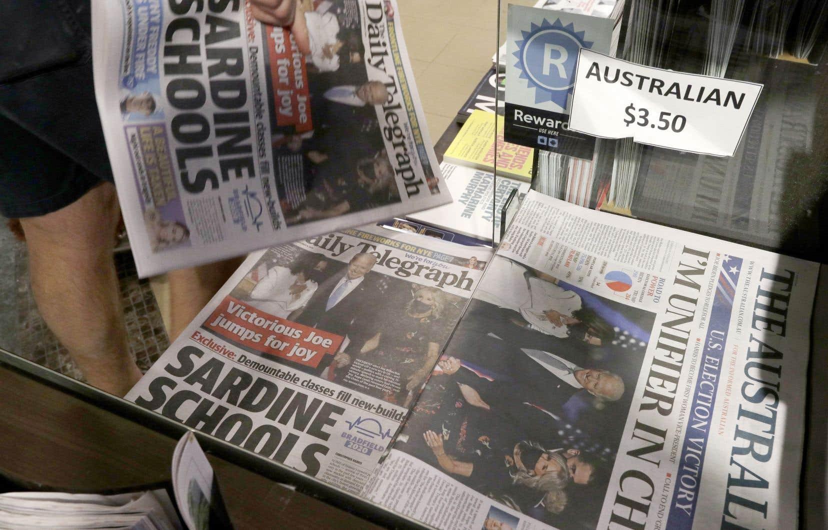 News Corp., qui possède entre autres «The Daily Telegraph», a été fondé par Rupert Murdoch.