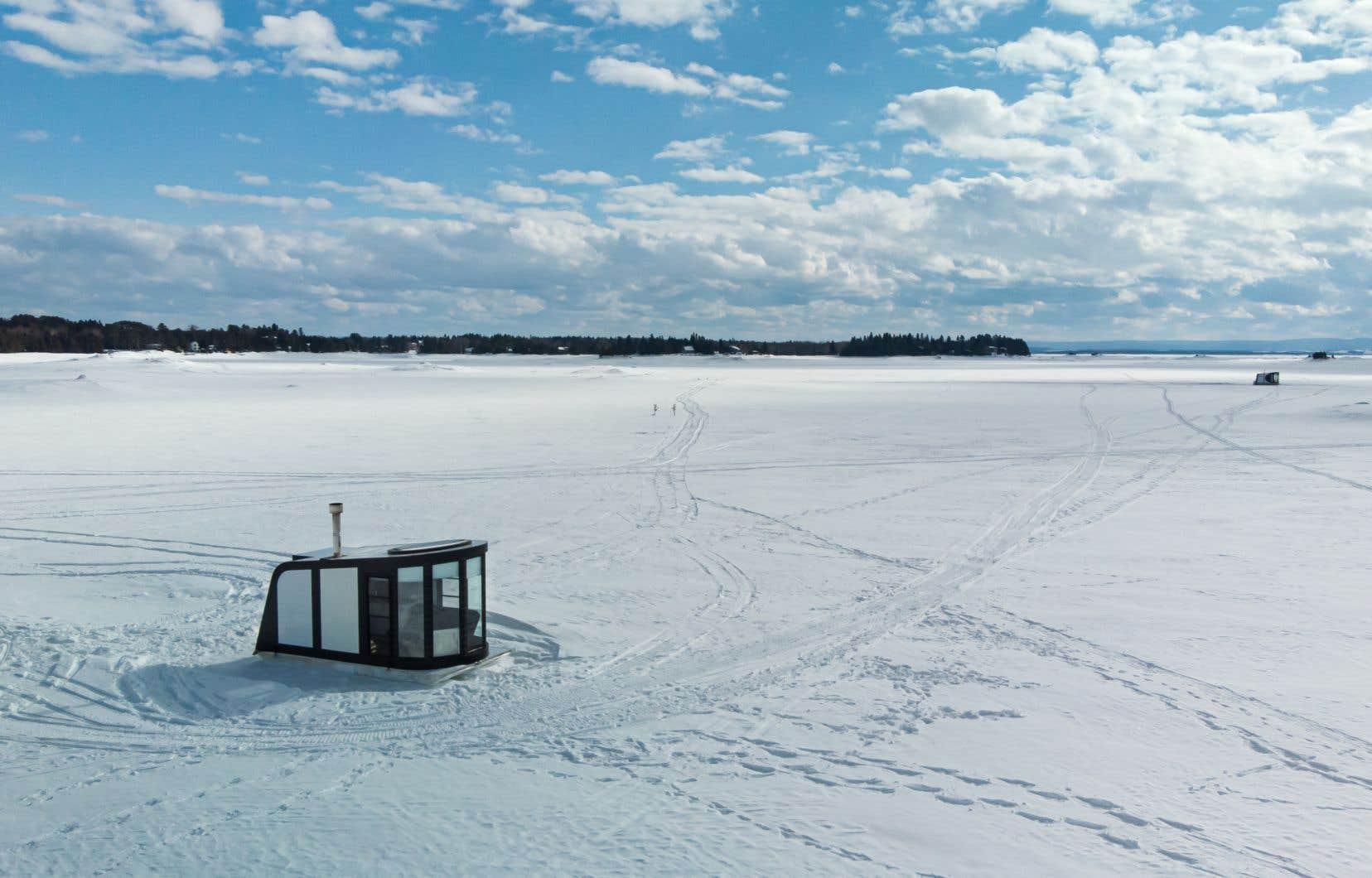 Un Igloft, sur le lac Saint-Jean