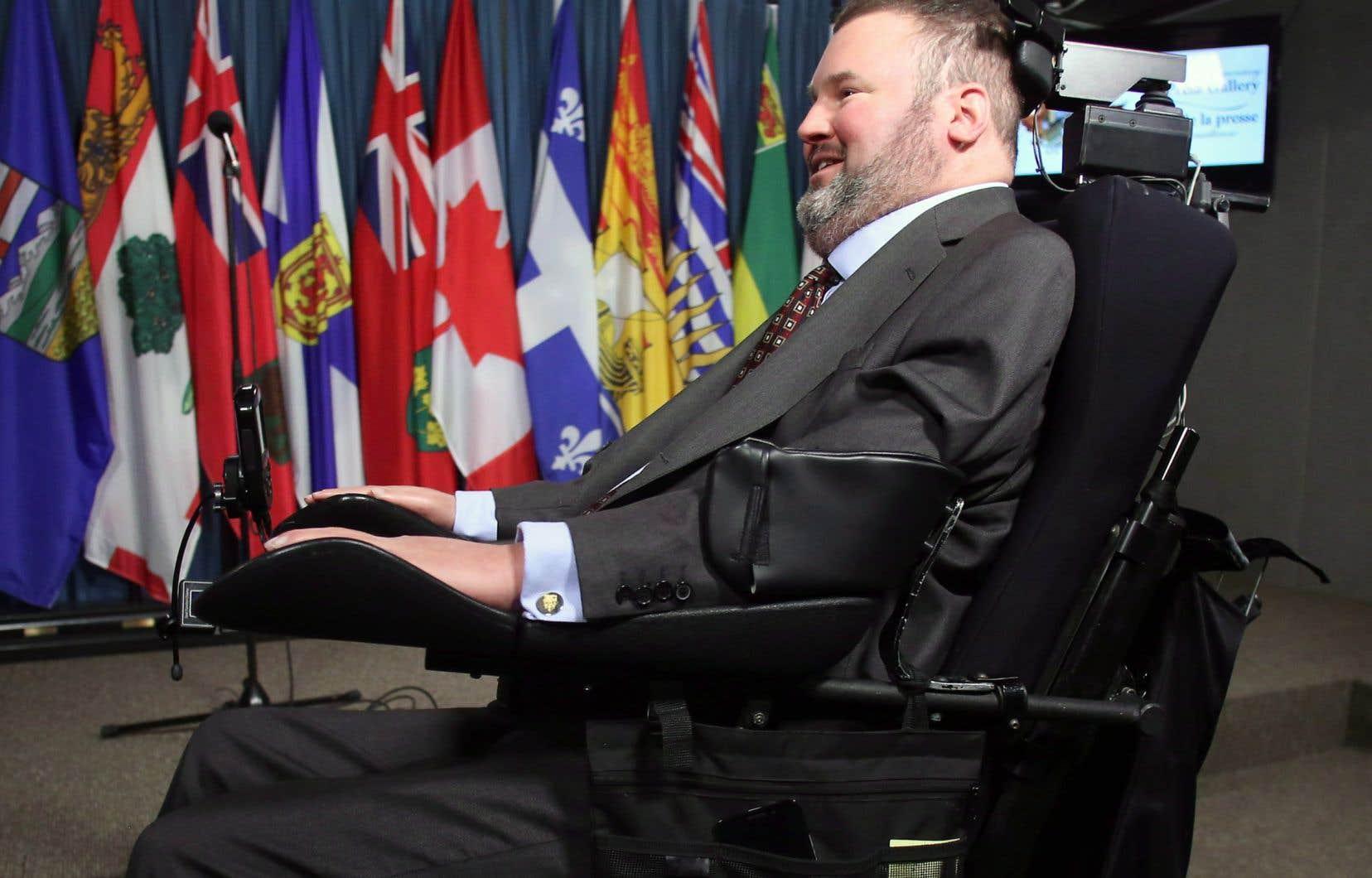 Steven Fletcher a été député à Ottawa de 2004 à 2015 et ministre dans le cabinet de Stephen Harper. On le voit ici en 2014.