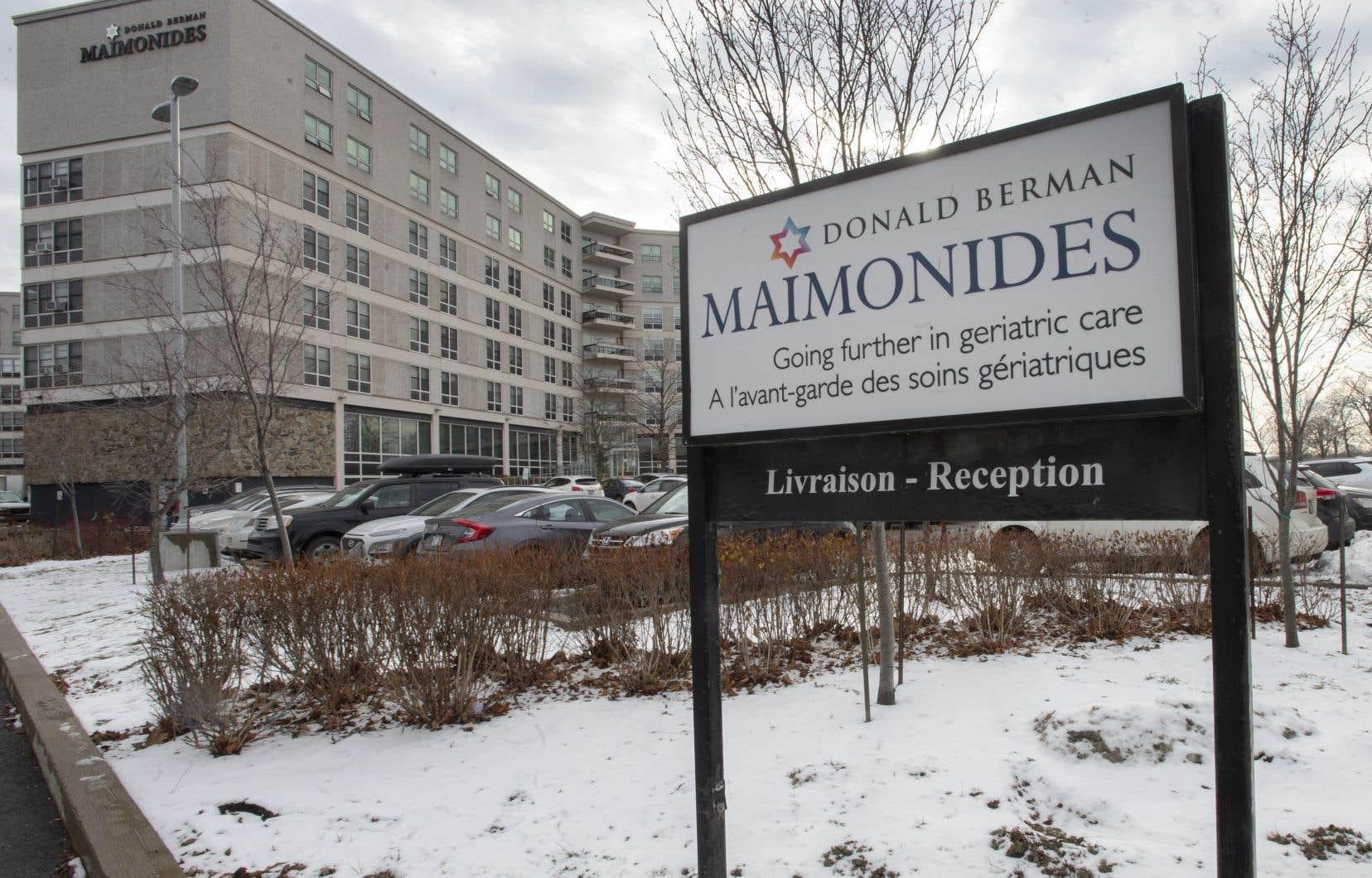 Le Centre gériatrique Maimonides à Côte-Saint-Luc, sur l'île de Montréal, sera l'un des premiers établissements à recevoir le vaccin contre la COVID-19 au Québec.
