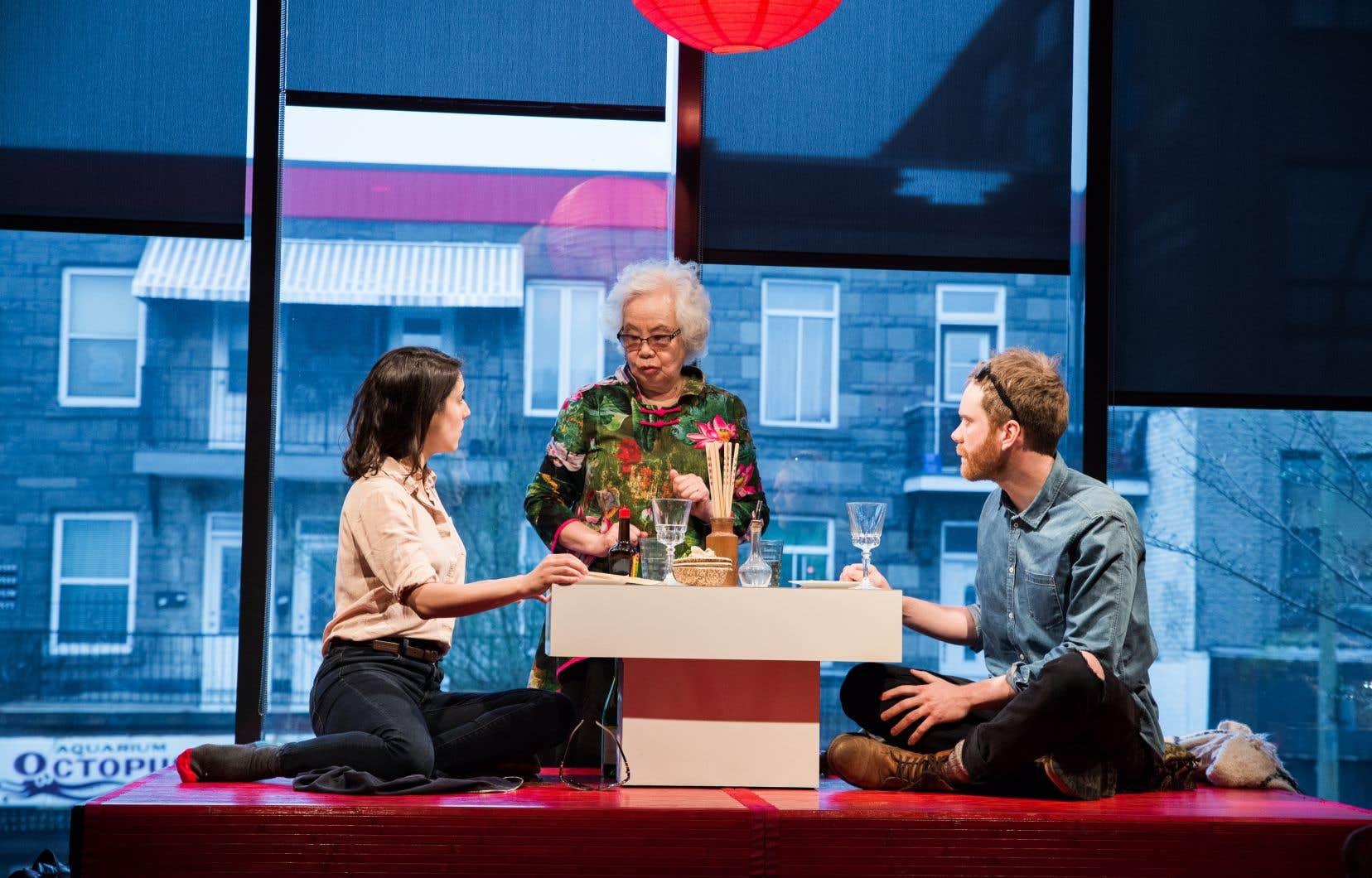 Le spectacle «L'amour est un dumpling», de Mathieu Quesnel, prévu chez Duceppe pour l'hiver 2021, tenait la semaine dernière sa première réunion de production. Un réalisateur et un directeur photo étaient invités à y prendre part.