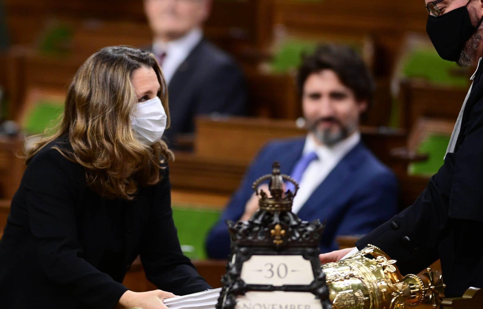 Lors de l'entrevue annuelle de La Presse canadienne, Justin Trudeau est arrivé accompagné de sa vice-première ministre, Crystia Freeland, manifestement désireux de braquer l'attention médiatique sur elle.