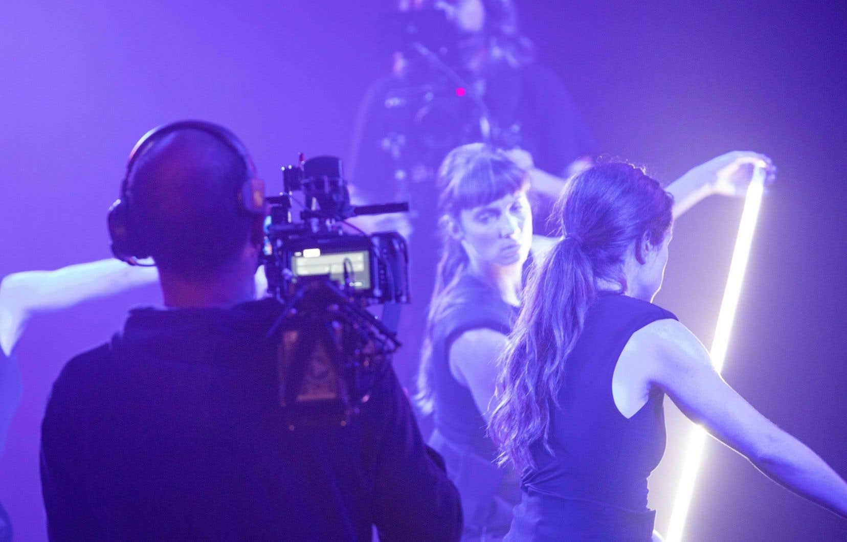 Une image du tournage de la pièce «VERSO»d'Audrey Bergeron, webdiffusée par Danse-Cité et rendue disponible sur la plateforme Sceno.tv