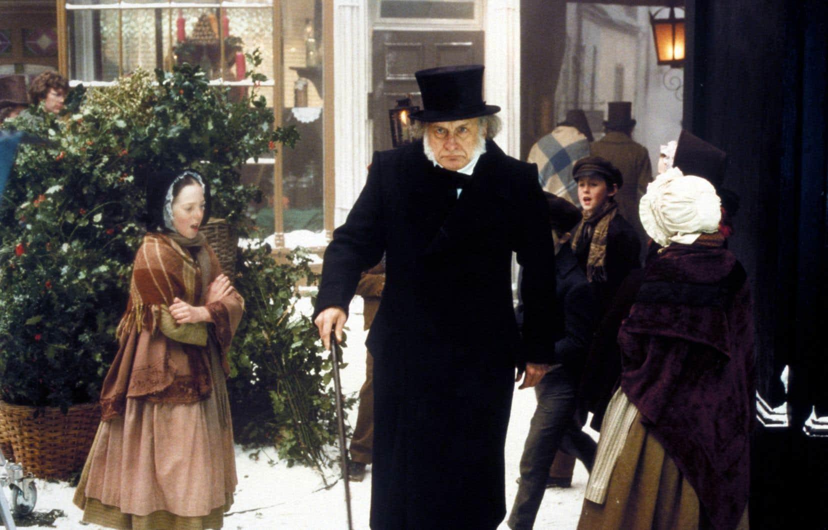 George C. Scott dans le très cinématographique téléfilm «A Christmas Carol» réalisé en 1984 par Clive Donner