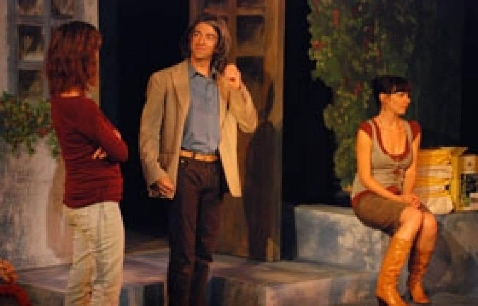 Une scène de la pièce La Corde au cou. Photo: François Larivière
