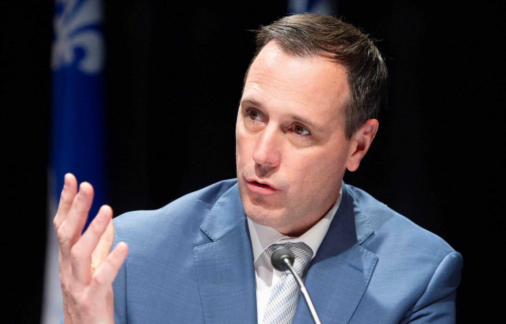«Il faut attendre le bulletin qui s'en vient avant de prendre des décisions», a déclaré le ministre de l'Éducation, Jean-François Roberge.
