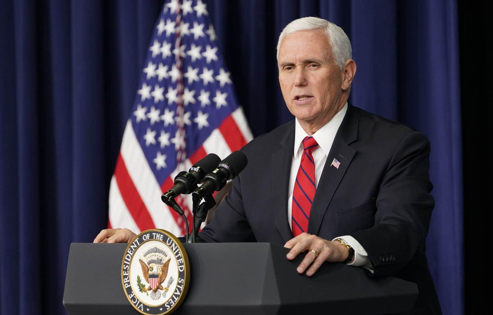 Le vice-président américain, Mike Pence