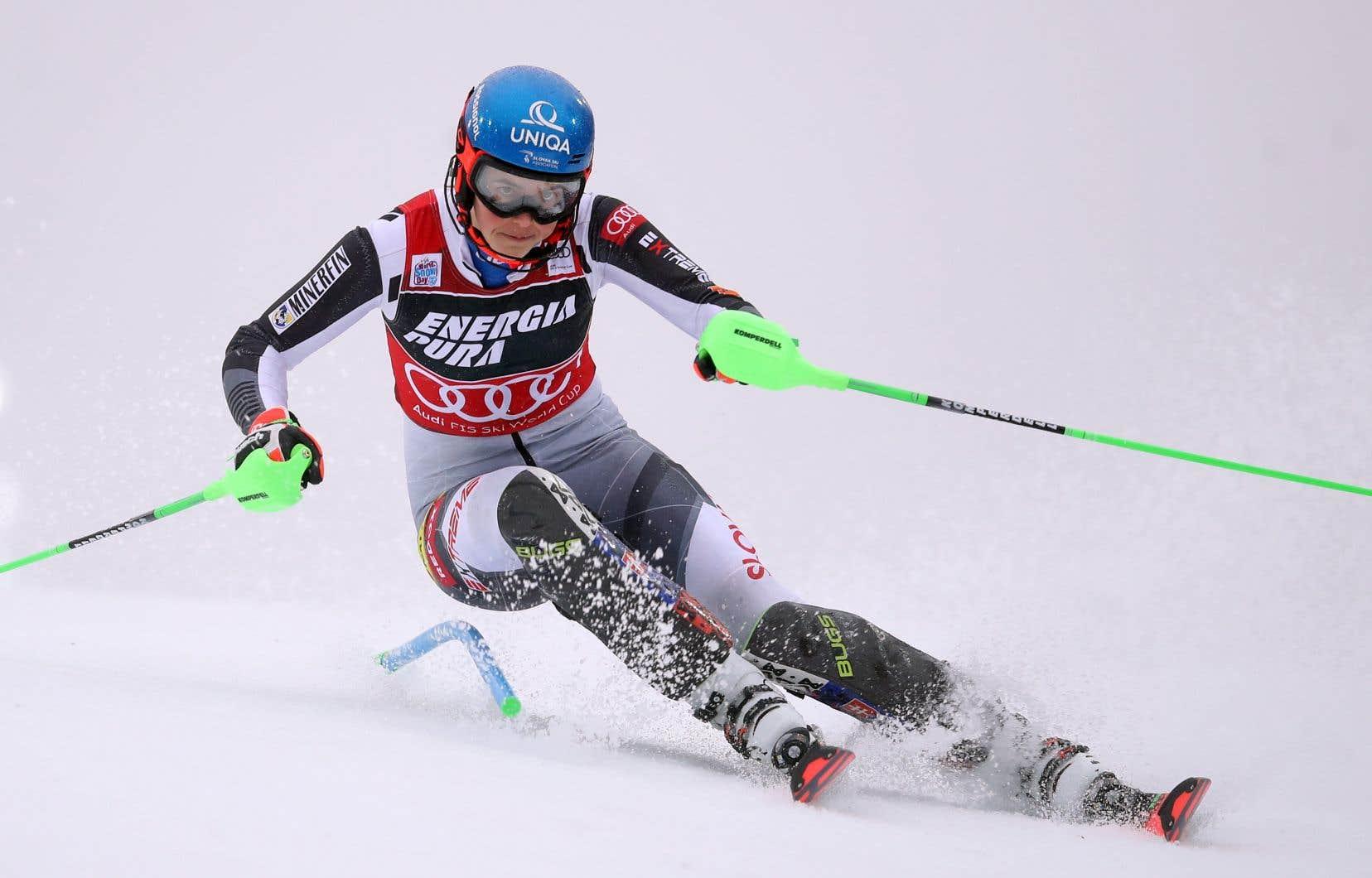 Vlhova a devancé l'Autrichienne Katharina Liensberger de cinq centièmes de seconde et la Suissesse Michelle Gisin