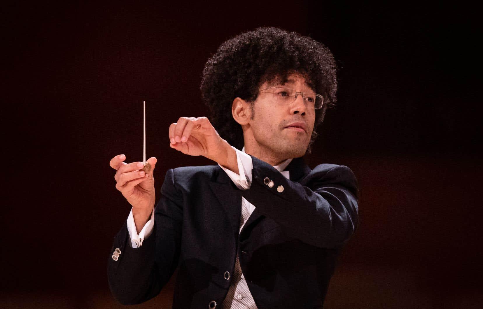 Le nouveau directeur musical de l'OSM,Rafael Payare (ici photographié lors du concert de dimanche après-midi), risque de surprendre par la tenue et la maturité de ses interprétations.