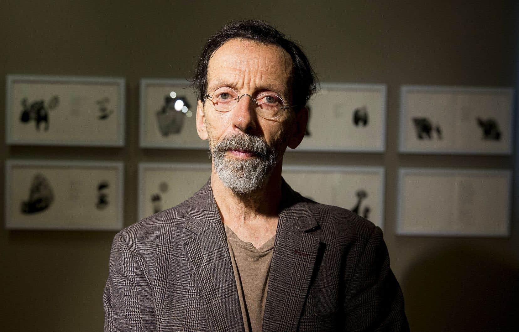 L'artiste et graveur Louis-Pierre Bougie en 2014