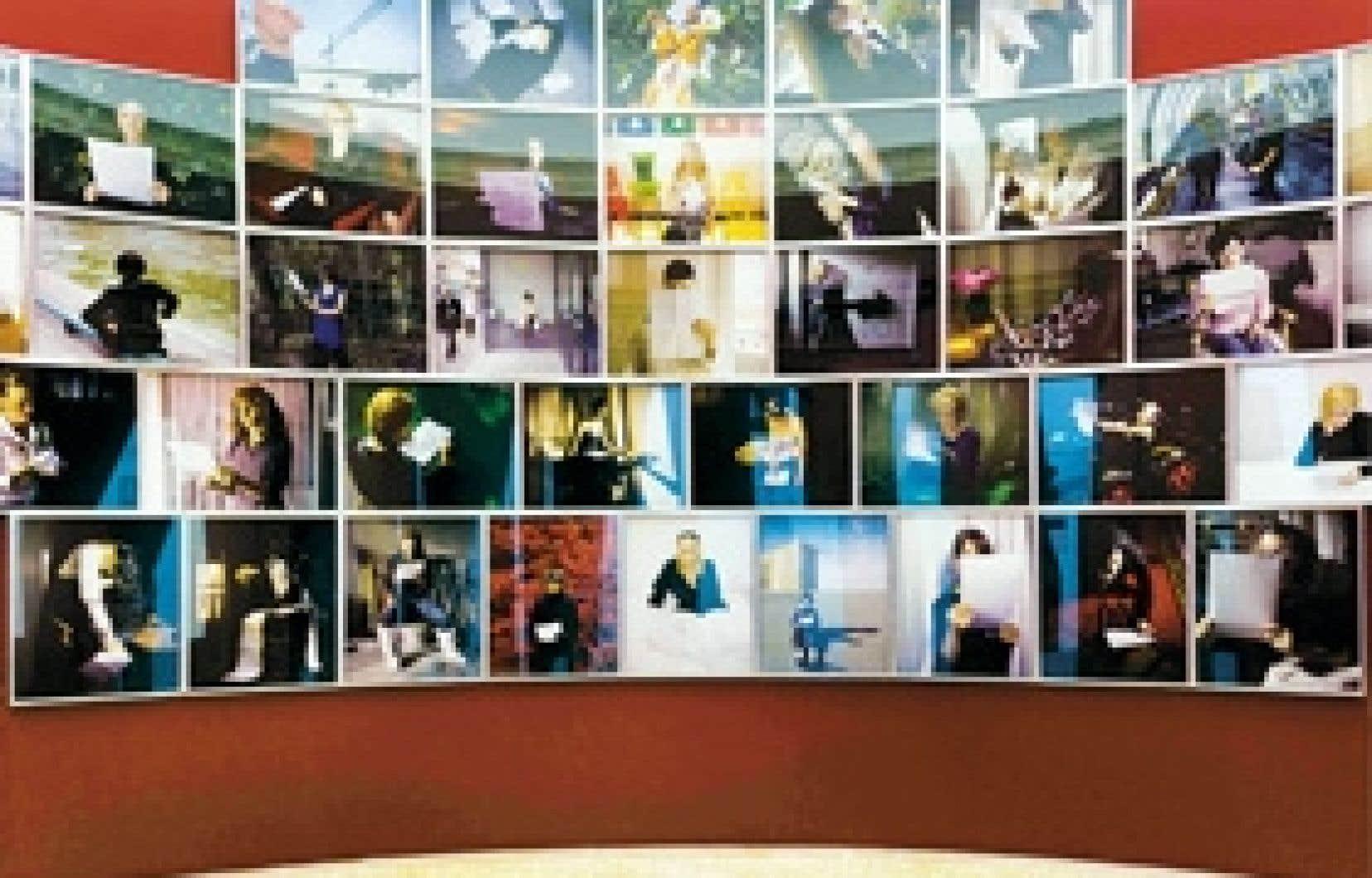 Vues de l'installation de Prenez soin de vous à la Biennale de Venise (pavillon français).