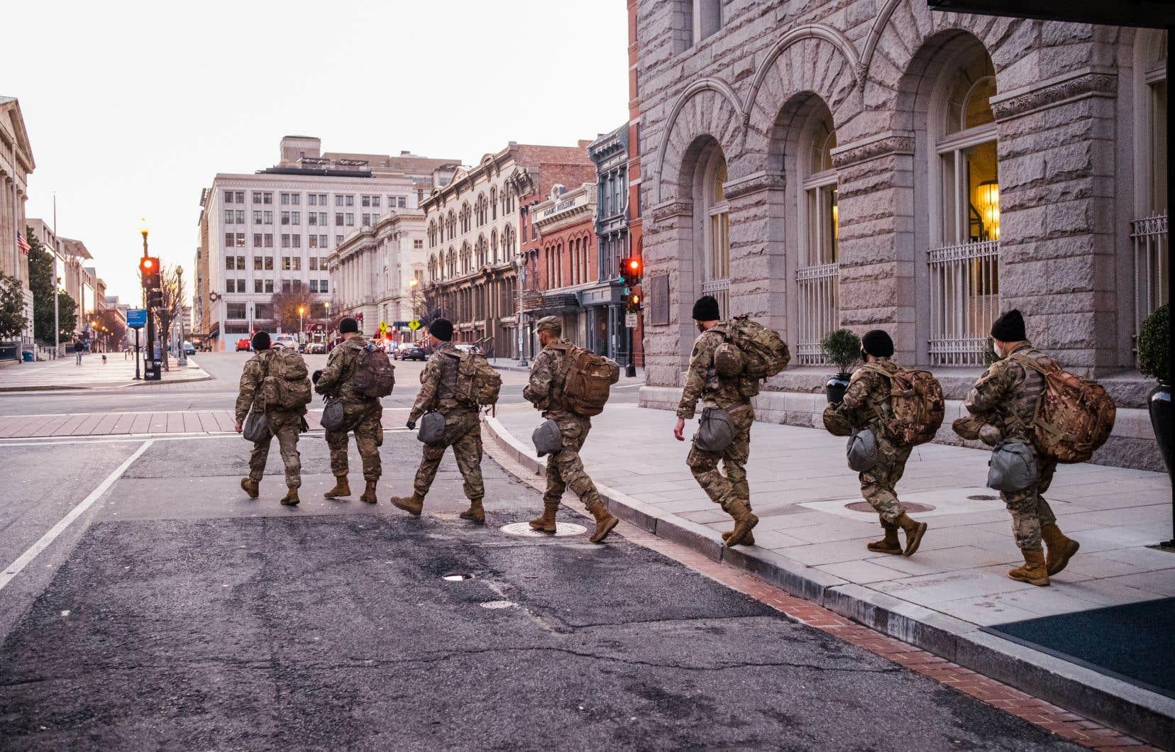 Les autorités ne prennent aucun risque après l'émeute au Capitole d'il y a deux semaines.