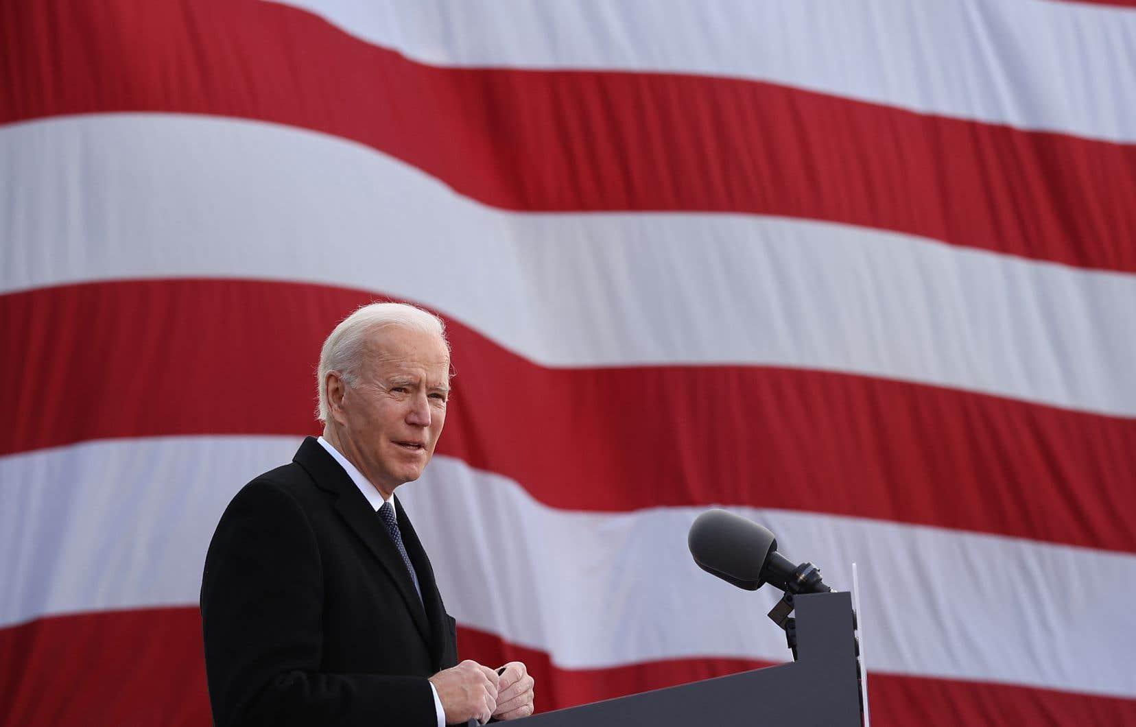 Joe Biden, à la veille de son intronisation à Washington.