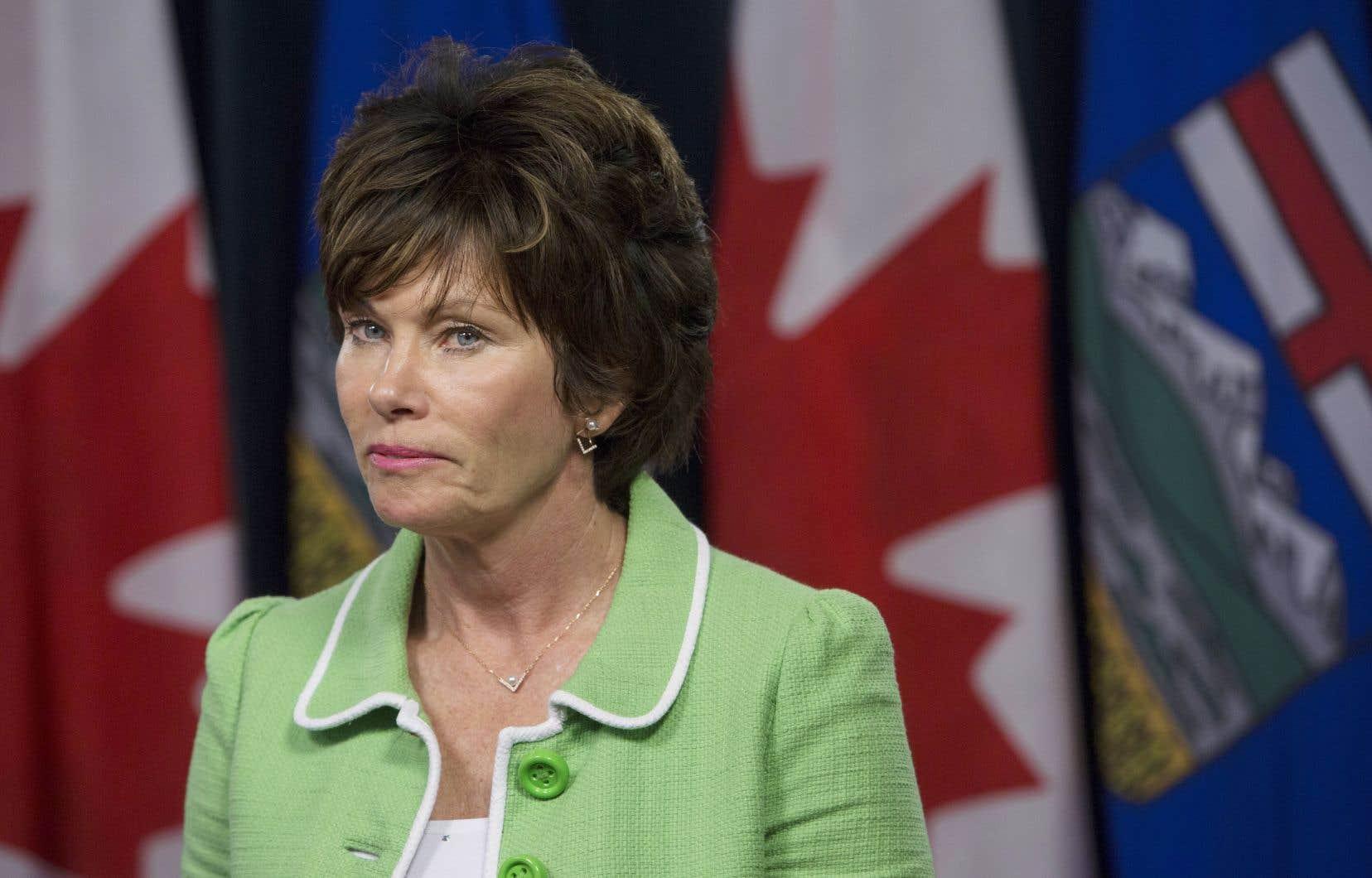 La ministre de l'Énergie de l'Alberta, Sonya Savage