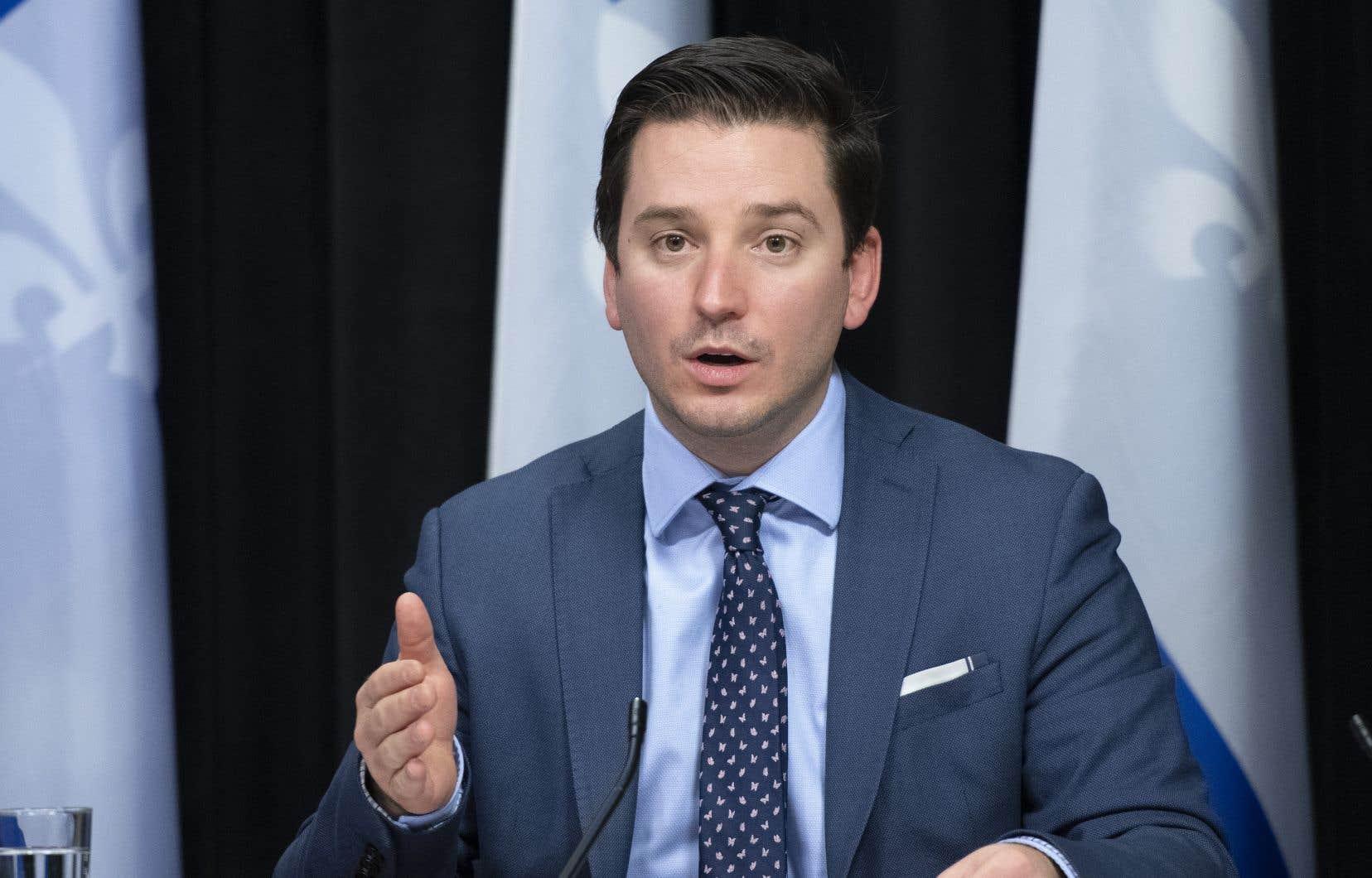 Le ministre de la Justice, Simon Jolin-Barrette