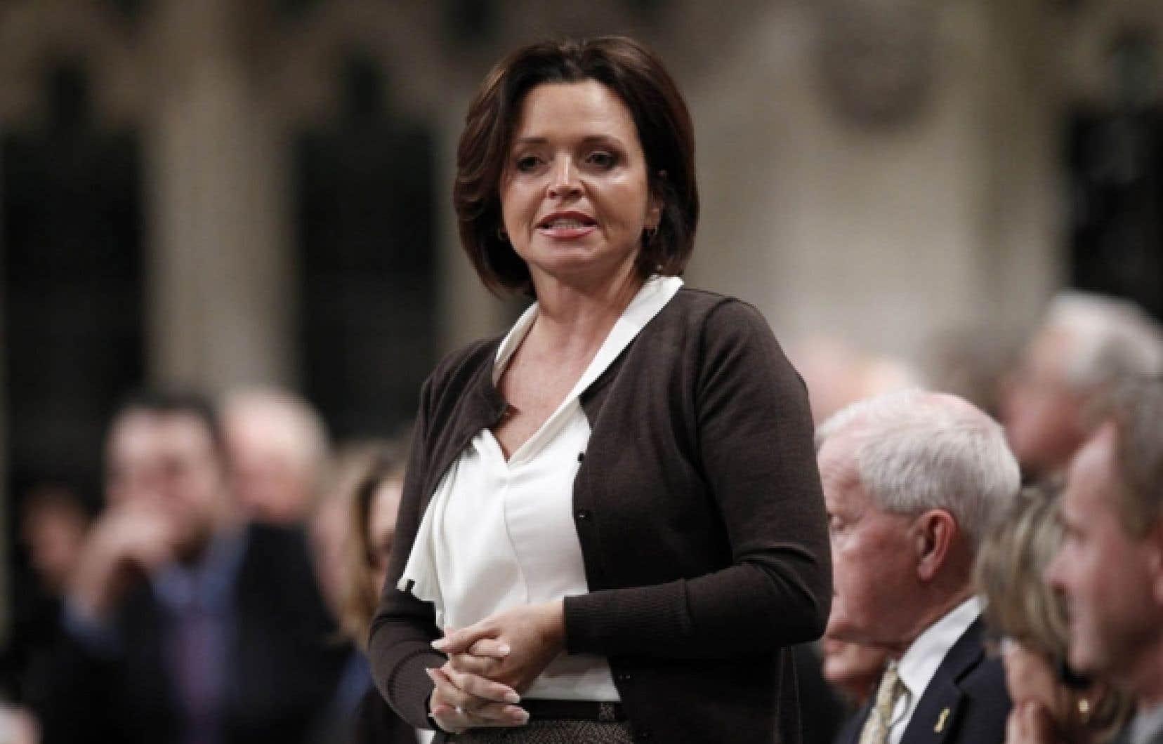 La ministre Josée Verner<br />
