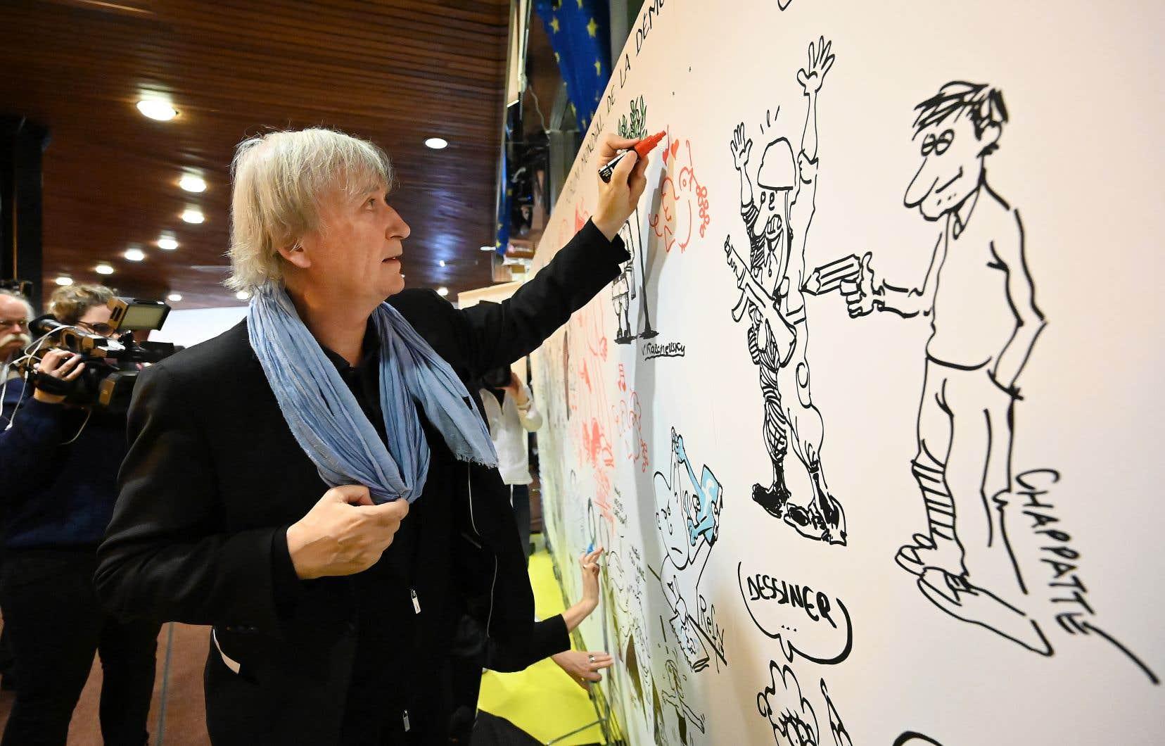 Le dessinateur de presse Plantu, Jean Plantureux de son vrai nom