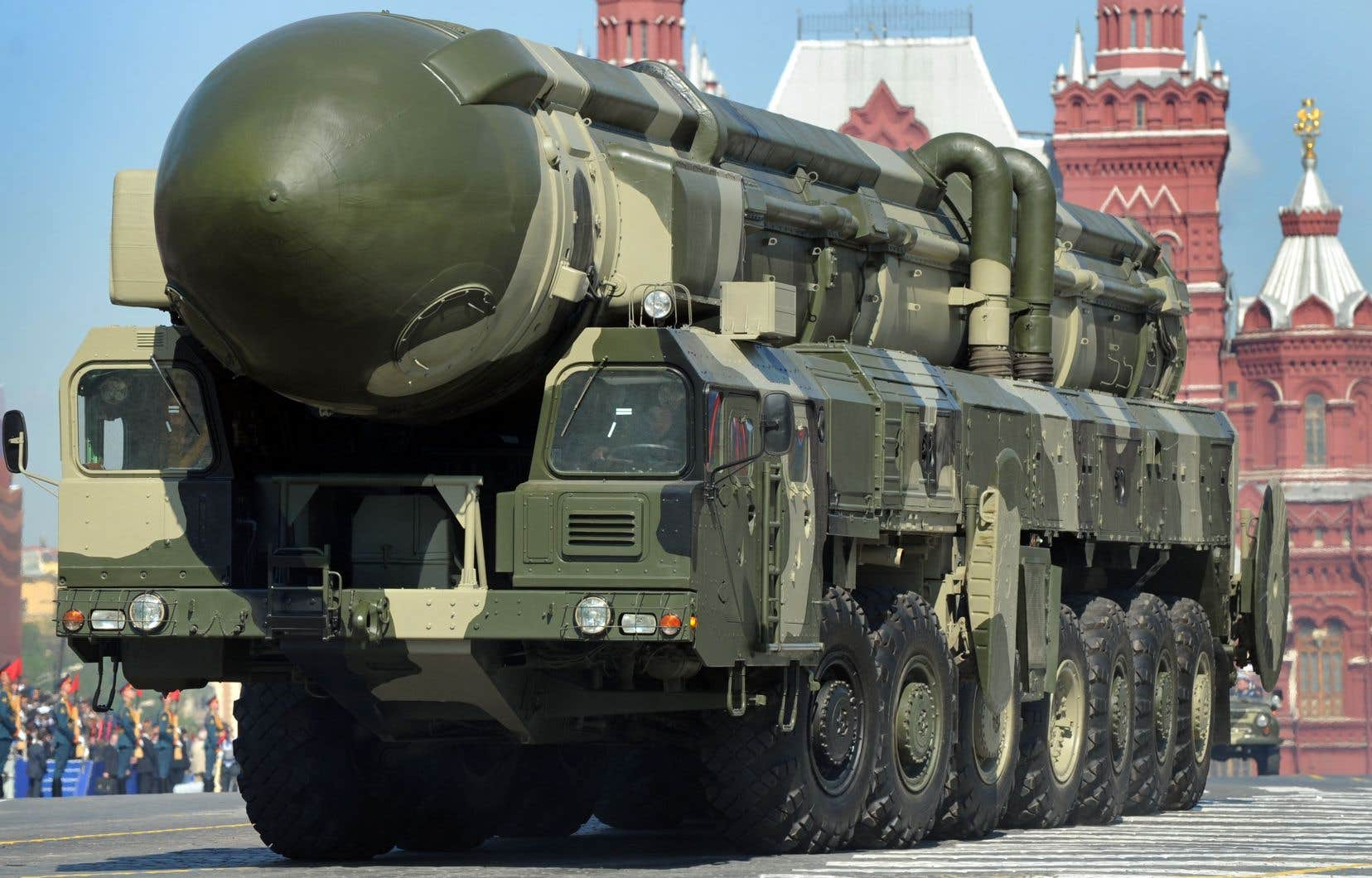 Un missile russe intercontinental Topol-M.