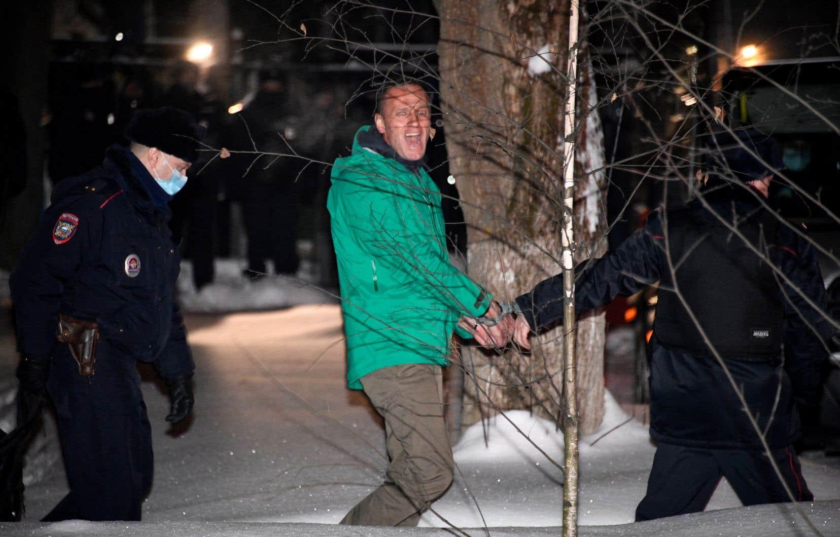 Alexeï Navalny, photographié ici le 18 janvier, a riposté à son arrestation par un appel à manifester.