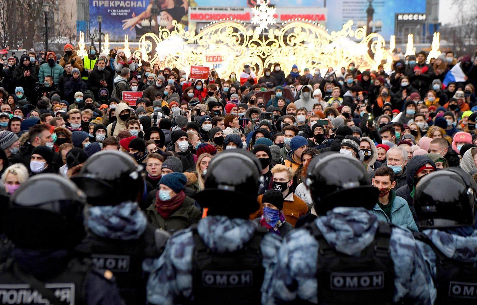 Les manifestations en soutien à Alexeï Navalny ont réuni samedi des dizaines de milliers de personnes.