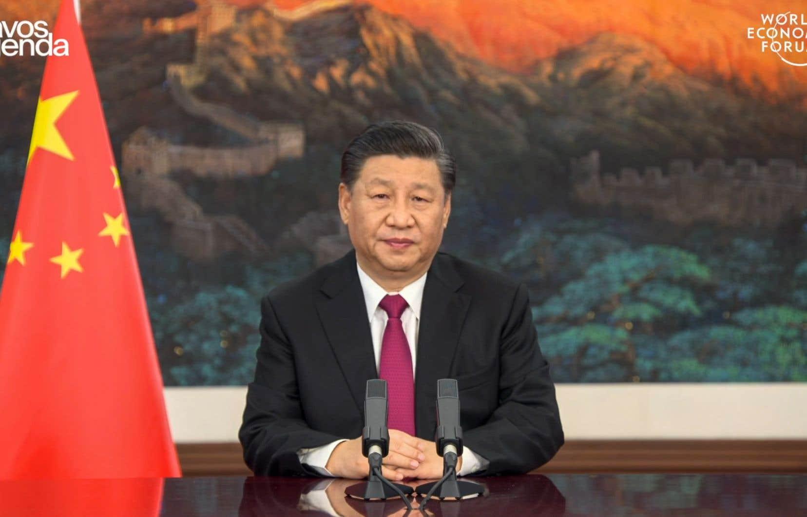 Le président chinois Xi Jinping a mis en garde le monde contre une «nouvelle guerre froide», lundi, en s'adressant par vidéo interposée au Forum économique mondial de Davos.