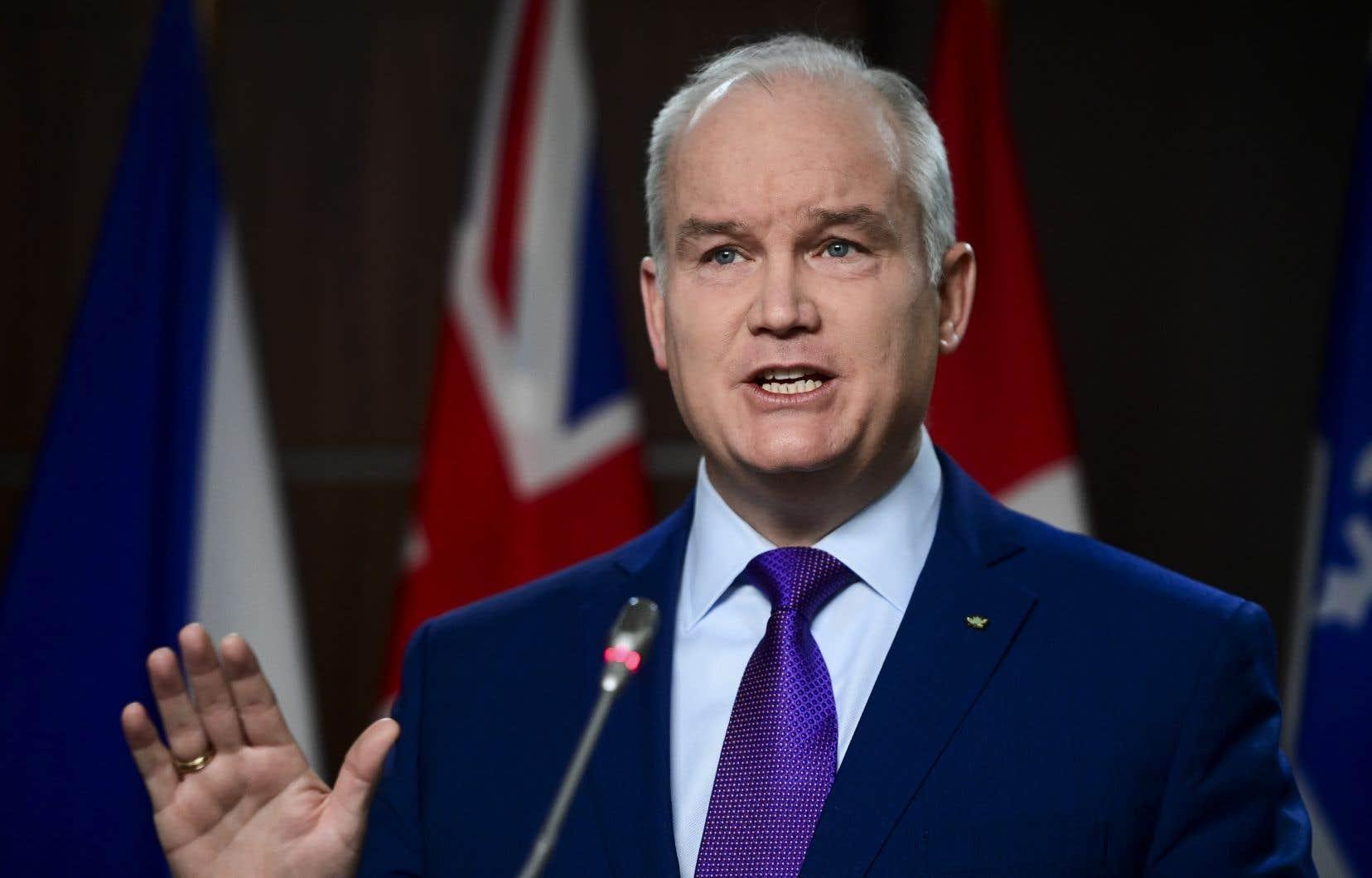 «Ce n'est pas approprié d'avoir des peines très sérieuses pour les Canadiens qui ont des problèmes de drogues», a lancé le chef conservateur Erin O'Toole en conférence de presse lundi.