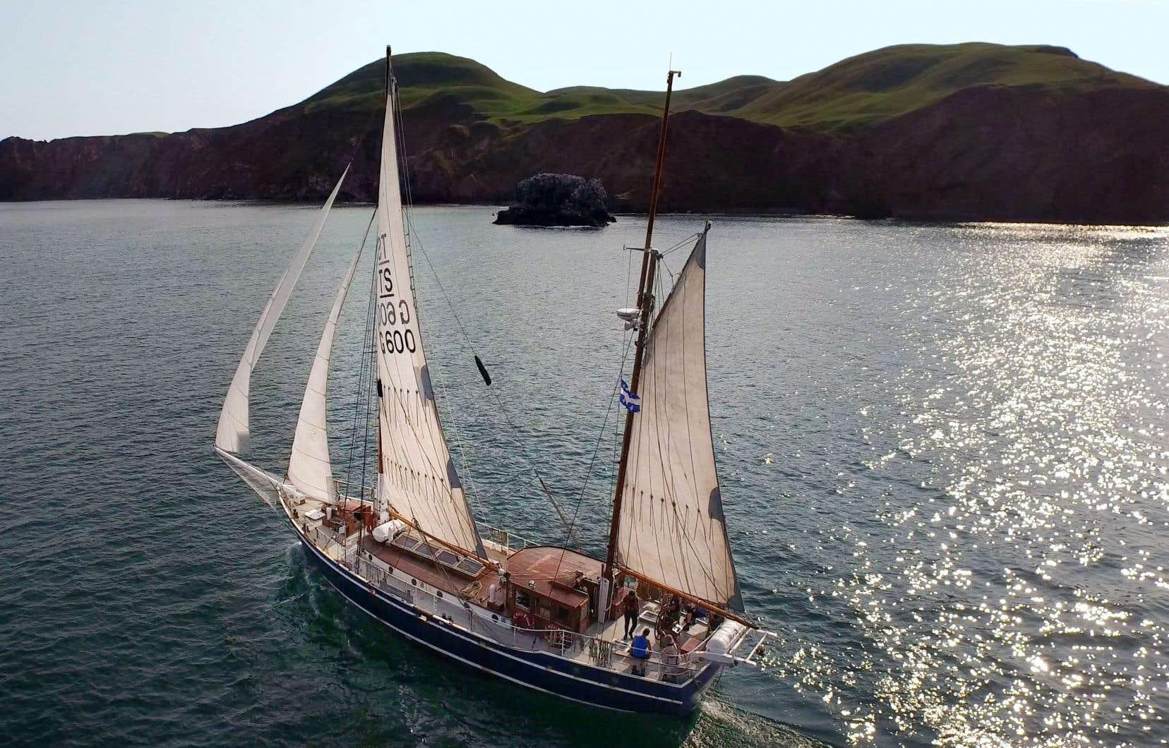 Le voilier ÉcoMaris, qui devrait emmener les passagers de la Basse-Côte-Nord jusqu'à Terre-Neuve et en Nouvelle-Écosse.
