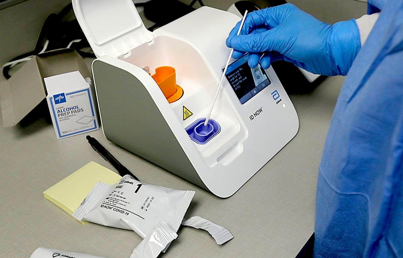La stratégie du gouvernement pour le déploiement des tests de dépistage rapide est nébuleuse.