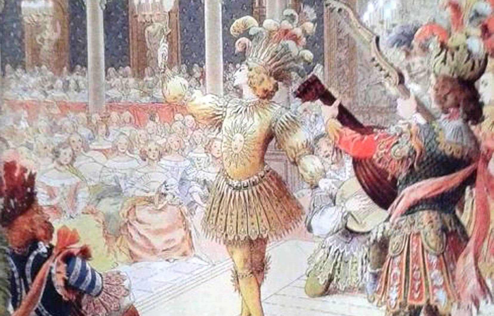 Louis XIV quand il incarne le Soleil levant dans le «Ballet de la nuit», le 23 février 1653, au Petit-Bourbon