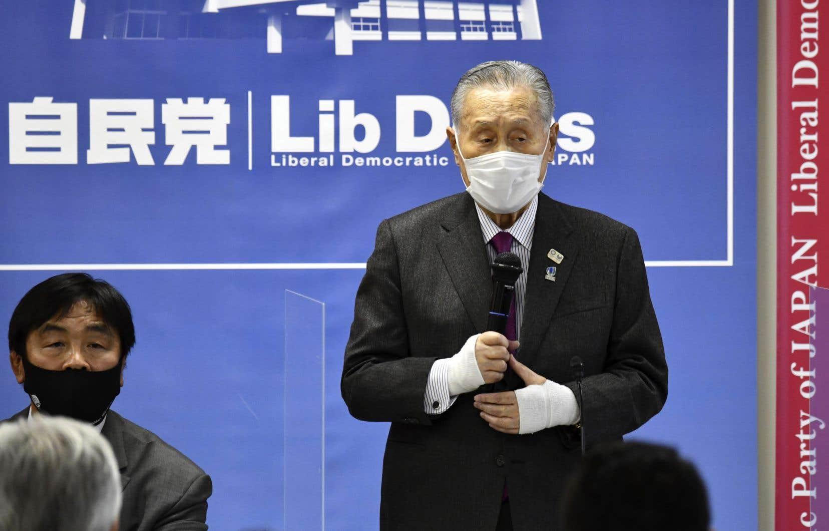 Yoshiro Mori a été le principal défenseur depuis plusieurs semaines de la présentation des JO au Japon.