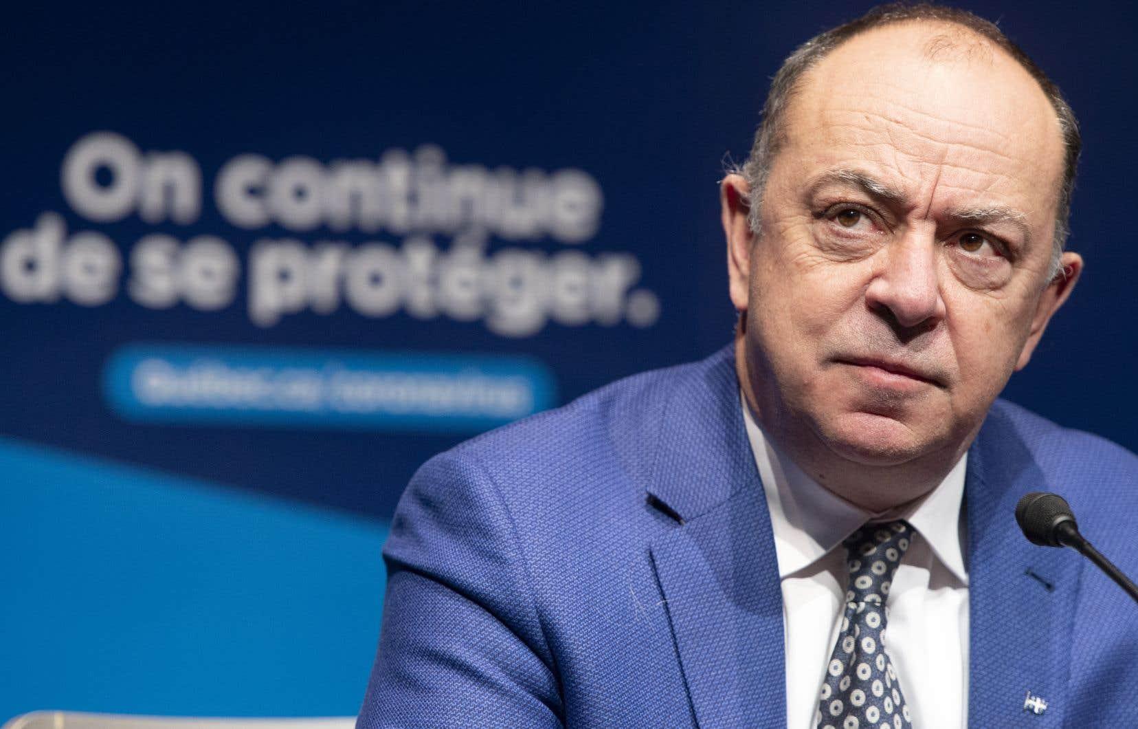 Le ministre québécois de la Santé, Christian Dubé
