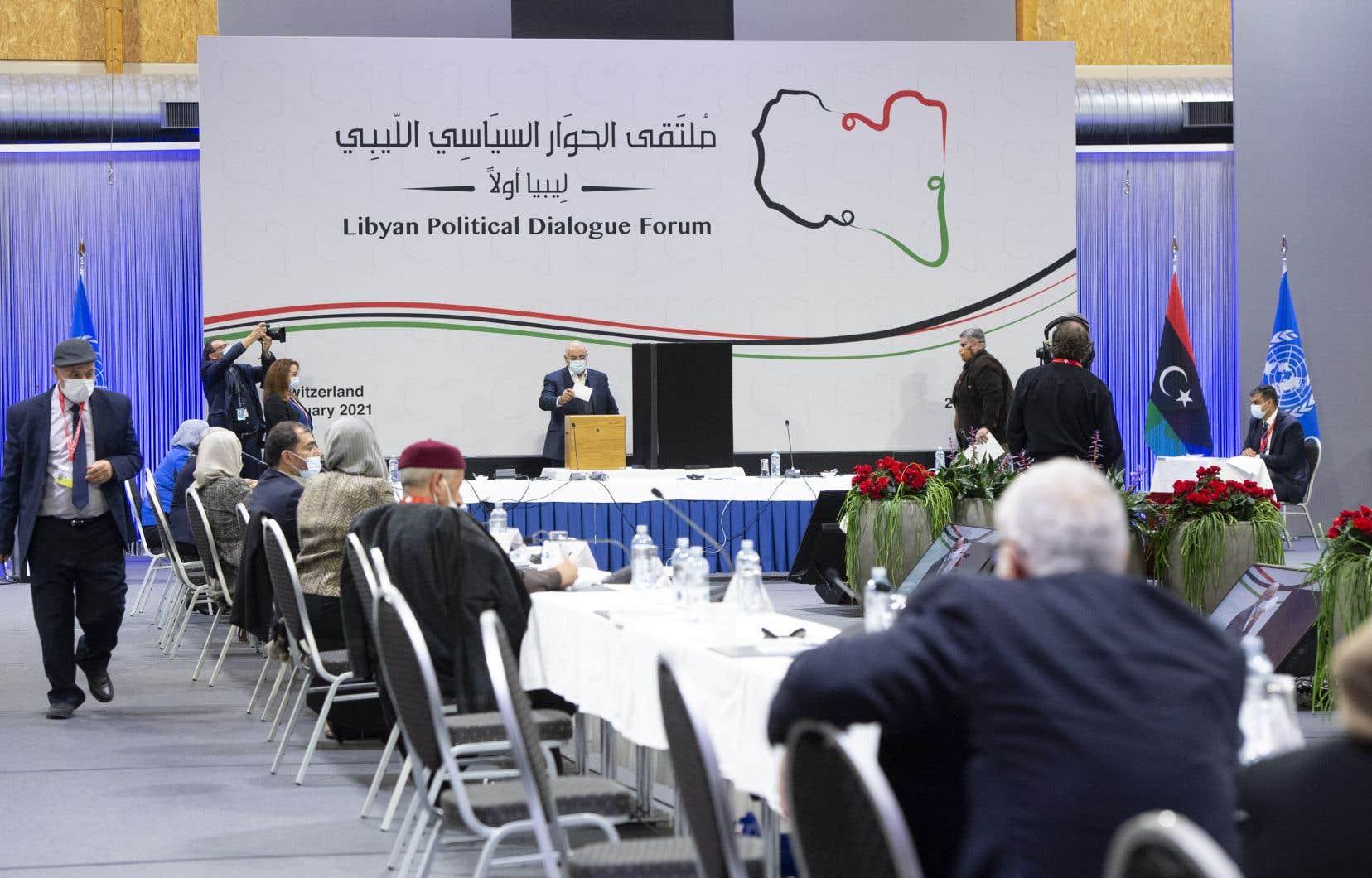 L'ingénieur Abdel Hamid Dbeibah, 61ans, a été désigné vendredi premier ministre par intérim par les 75 participants au Forum de dialogue politique.