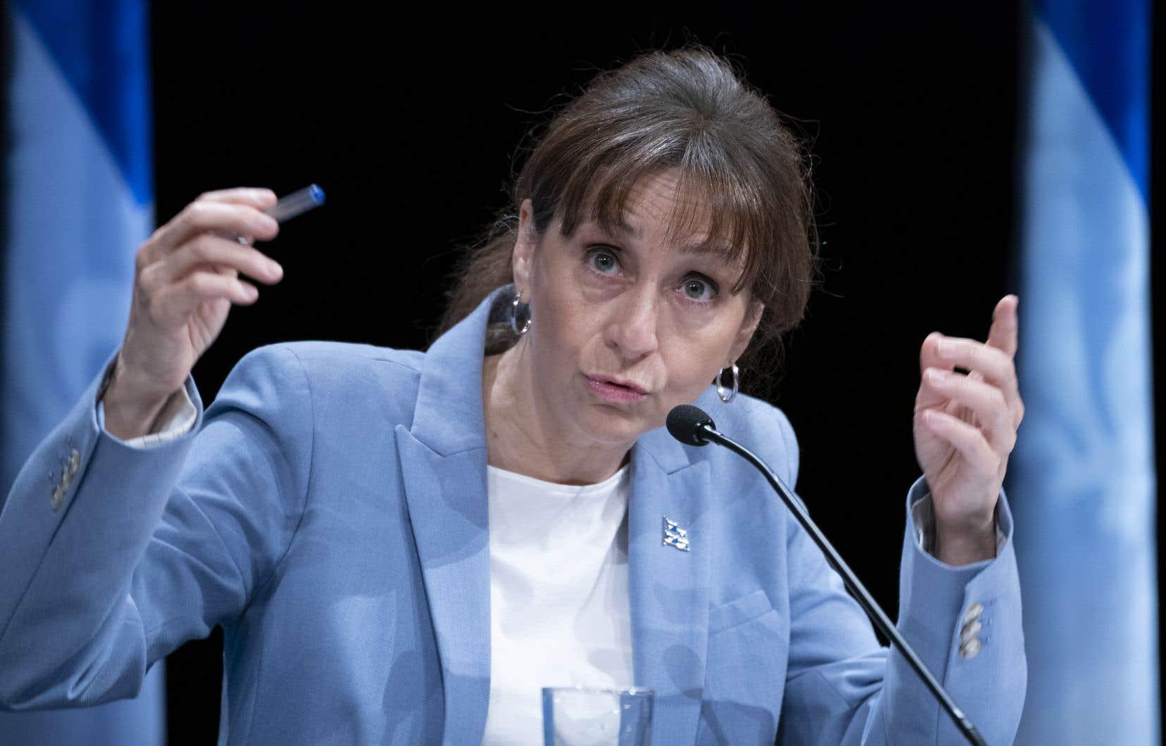 La ministre de la Culture,Nathalie Roy