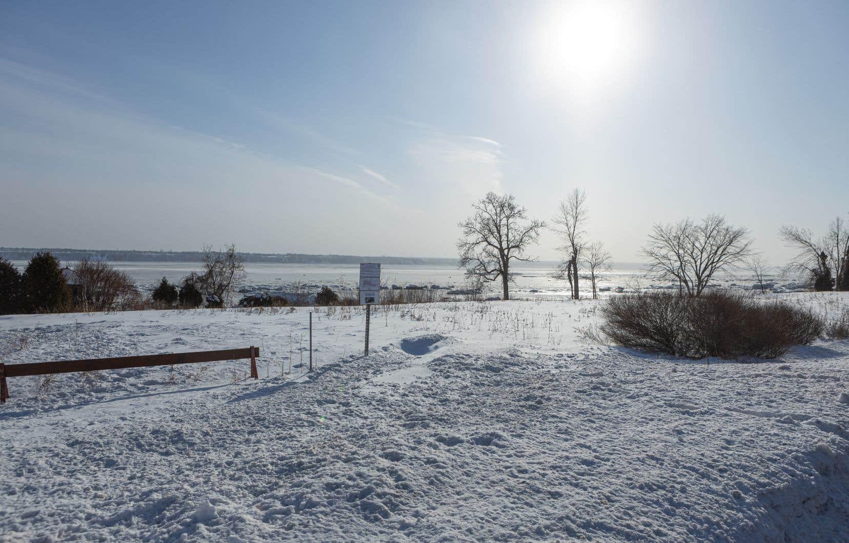 Le terrain où pourrait être construite la résidence près de la rive.