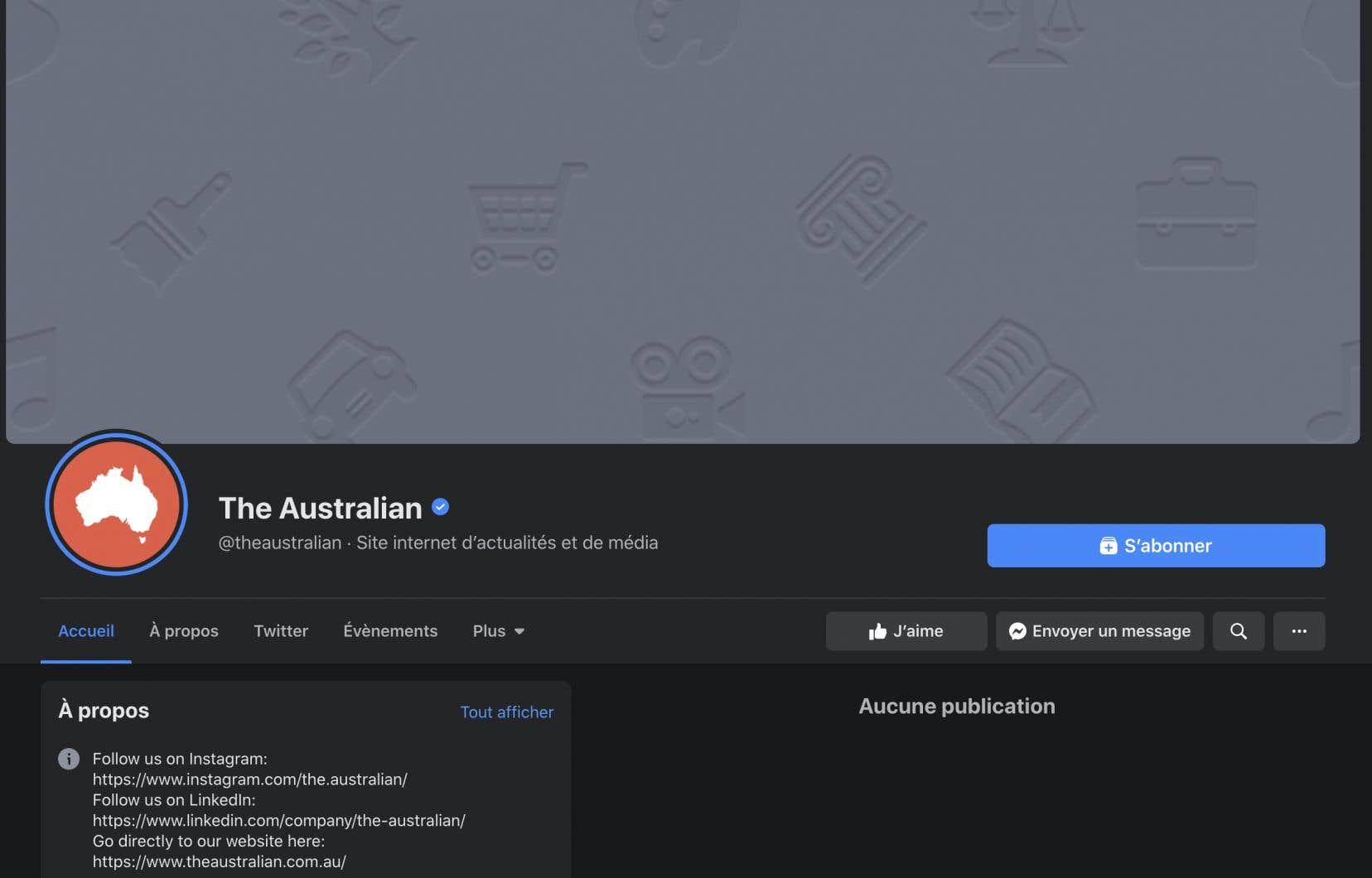 À leur réveil jeudi, les Australiens n'ont pas pu publier de liens renvoyant vers des articles d'actualité ni consulter les pages Facebook de médias locaux ou internationaux.