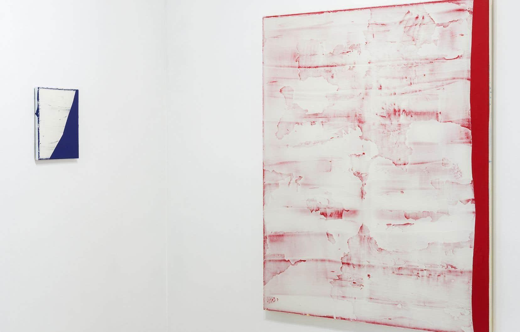 Vue partielle de l'exposition «Les isolés», de Mathieu Lévesque