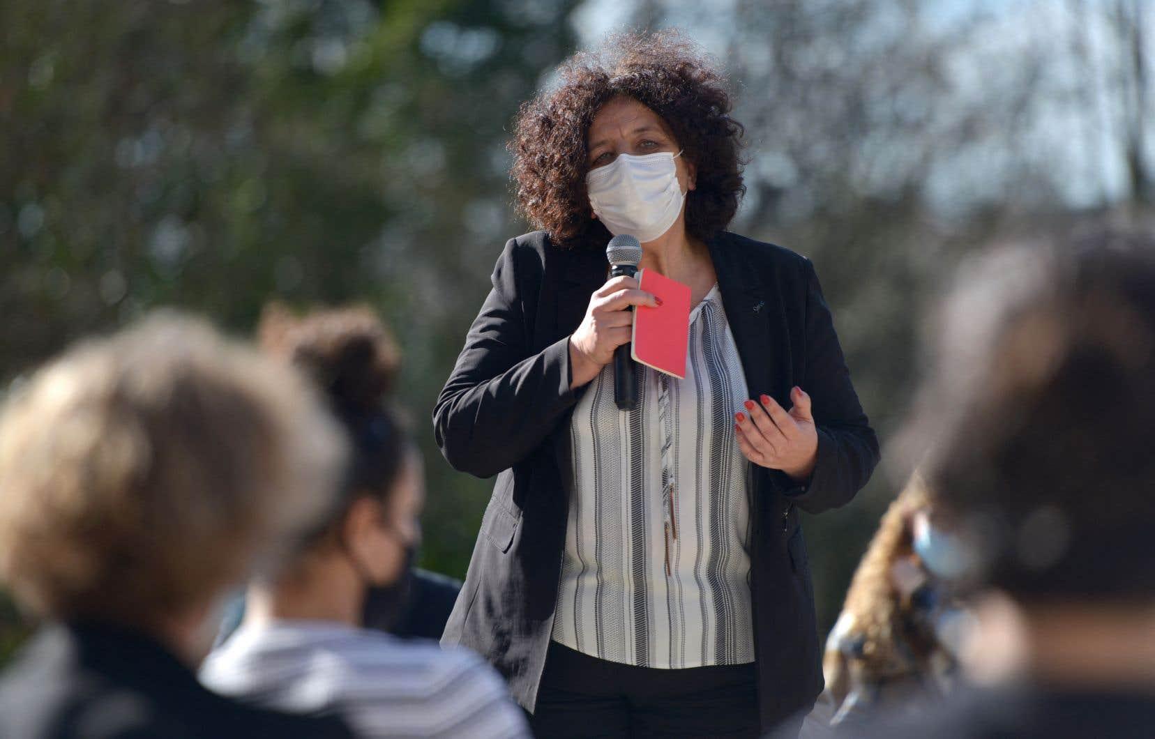 La ministre française de l'Enseignement supérieur, Frédérique Vidal, s'adressait à des étudiants universitaires à Poitiers, mardi.